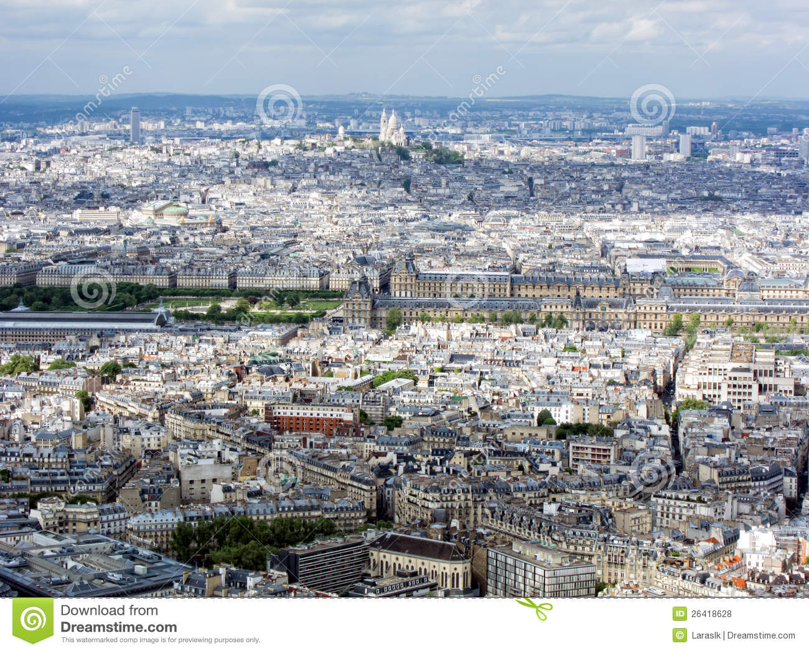 Paysage urbain de paris photos libres de droits image for Paris paysage