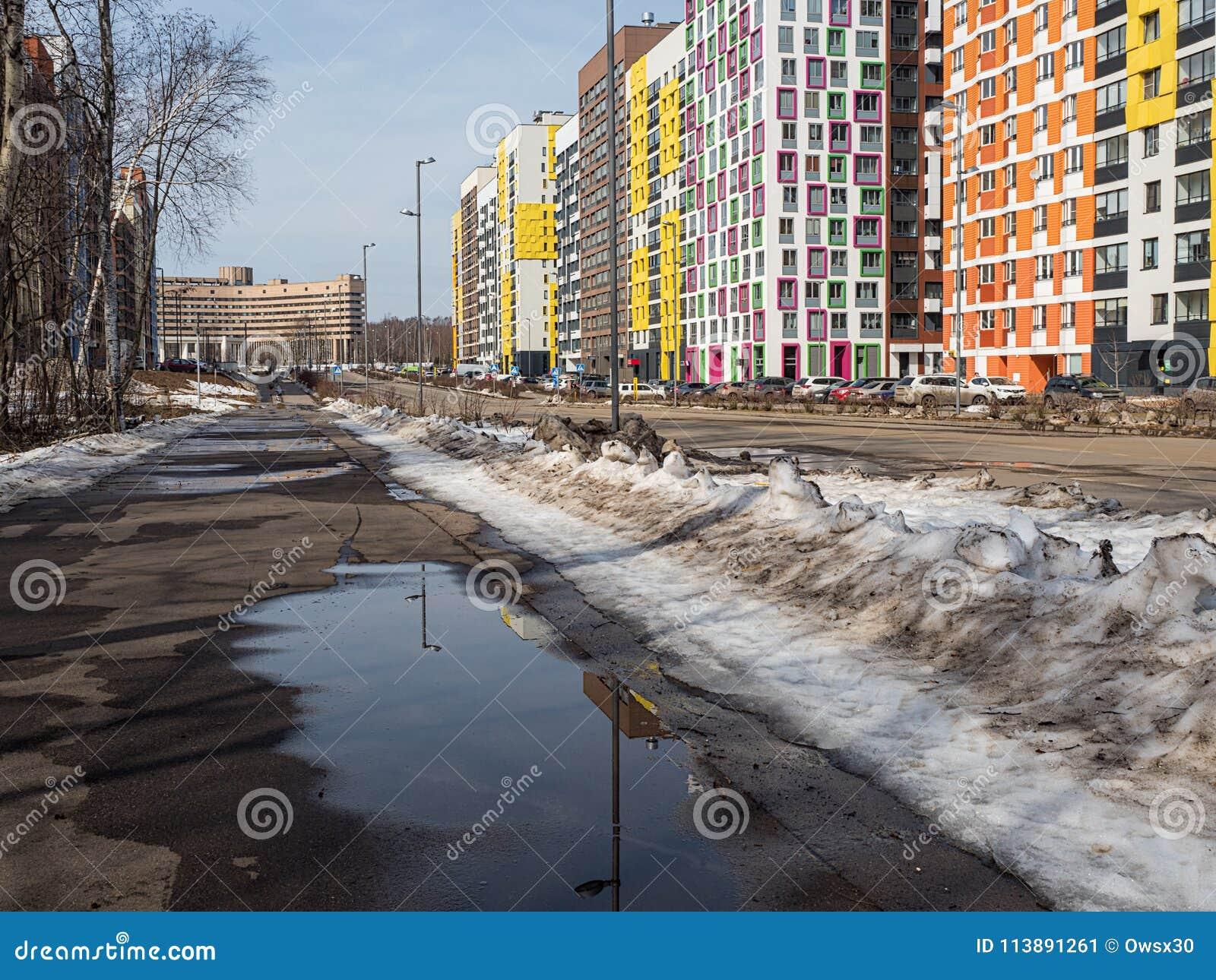 Paysage urbain de ressort dans une zone résidentielle moderne