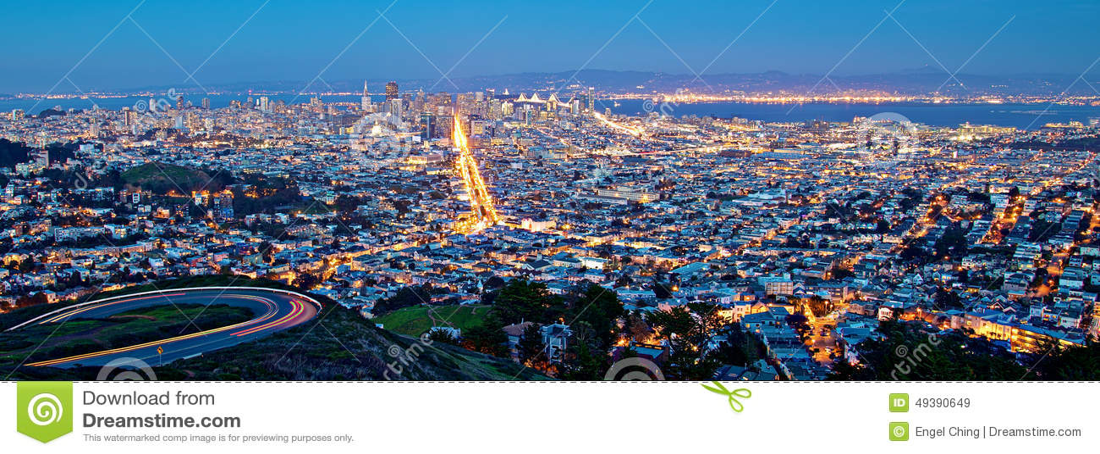 Paysage urbain de San Francisco la nuit