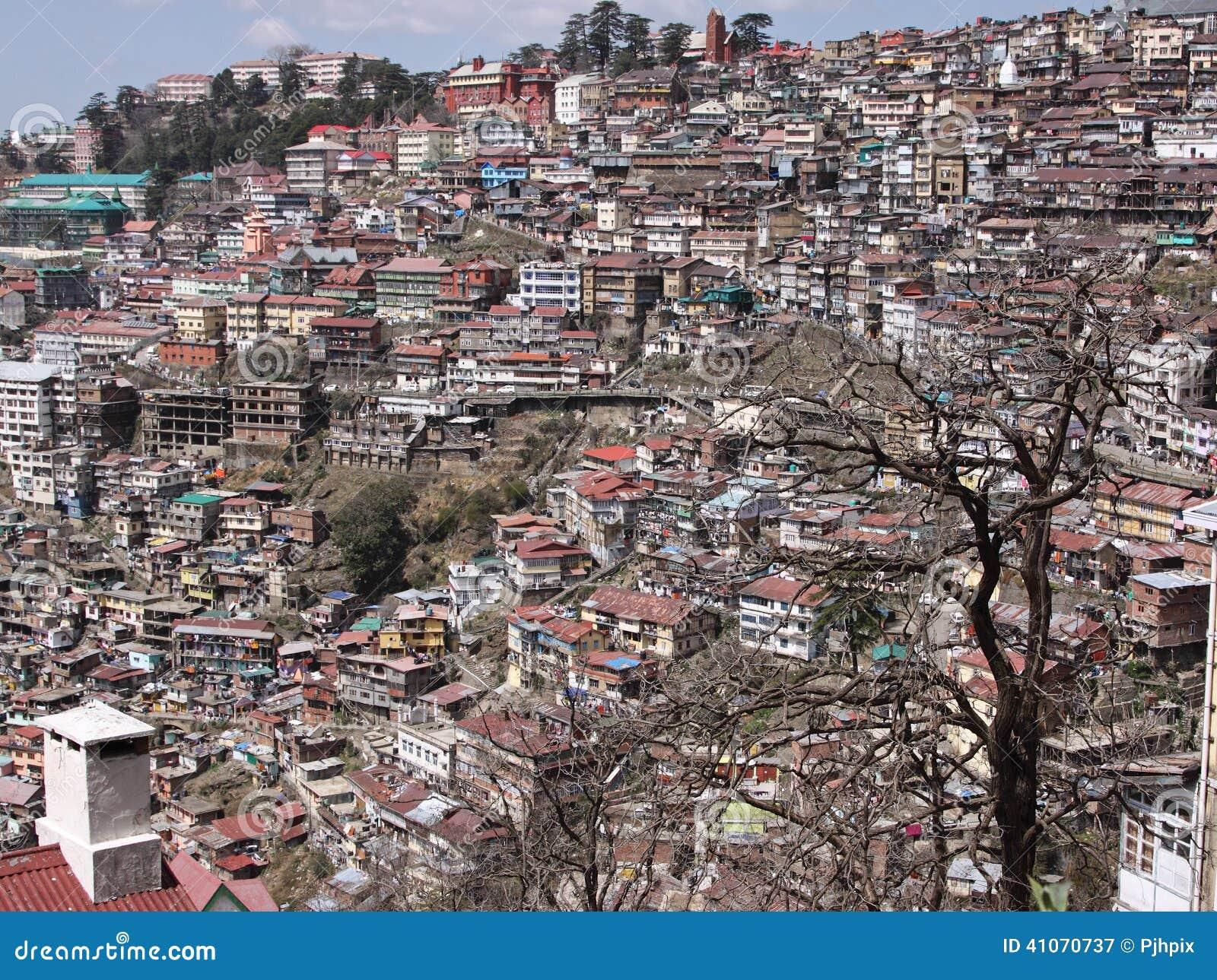 Paysage urbain de shimla inde photo stock image 41070737 for Paysage de ville