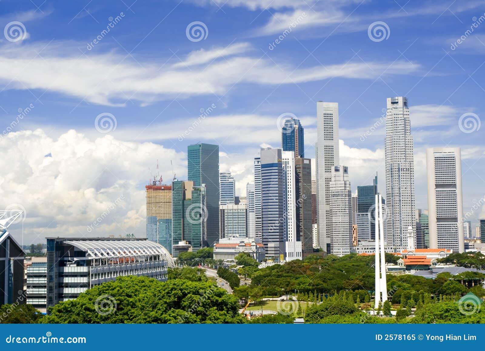 paysage urbain de singapour photo libre de droits image 2578165. Black Bedroom Furniture Sets. Home Design Ideas