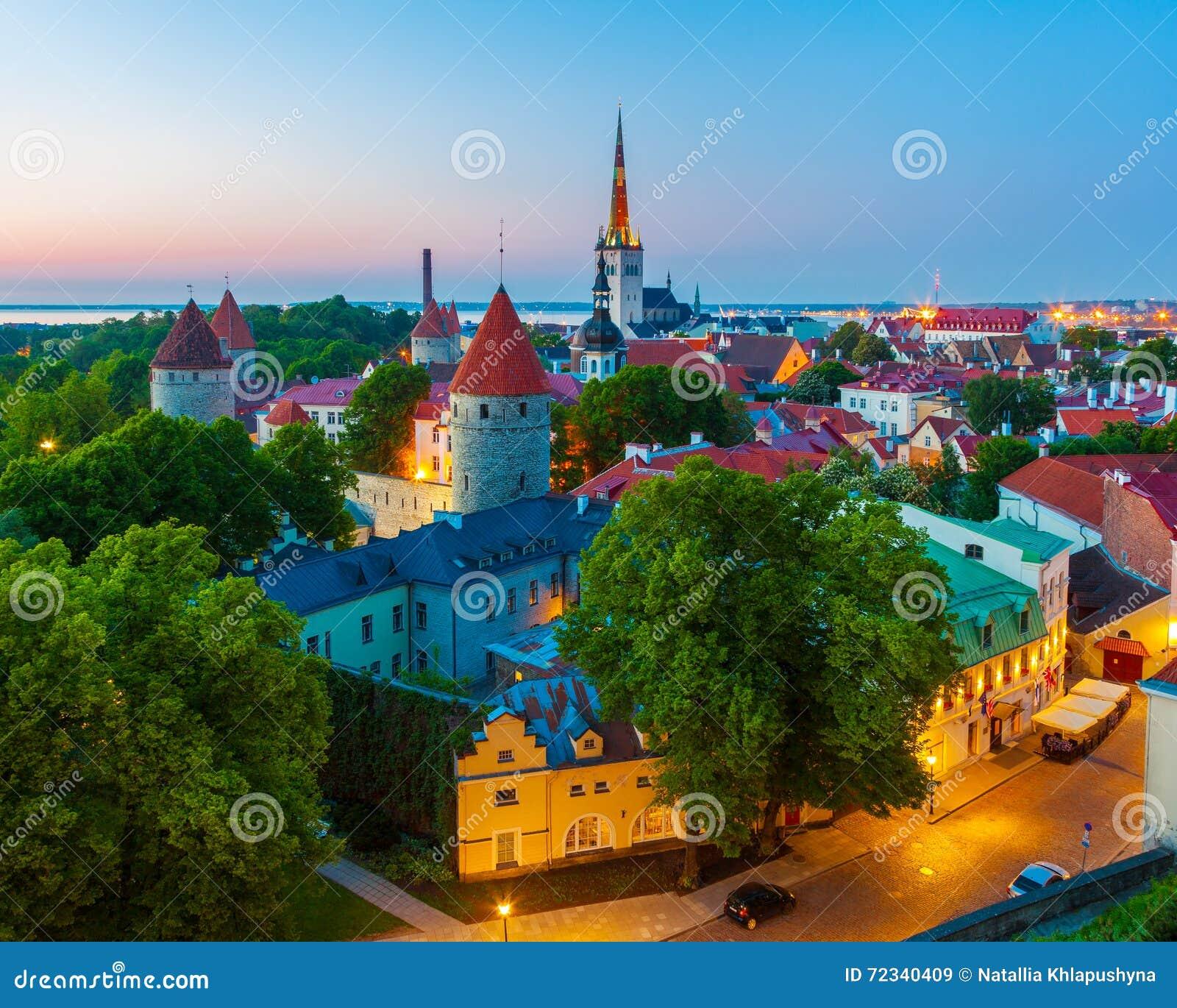 Paysage urbain de vieille ville Tallinn, Estonie