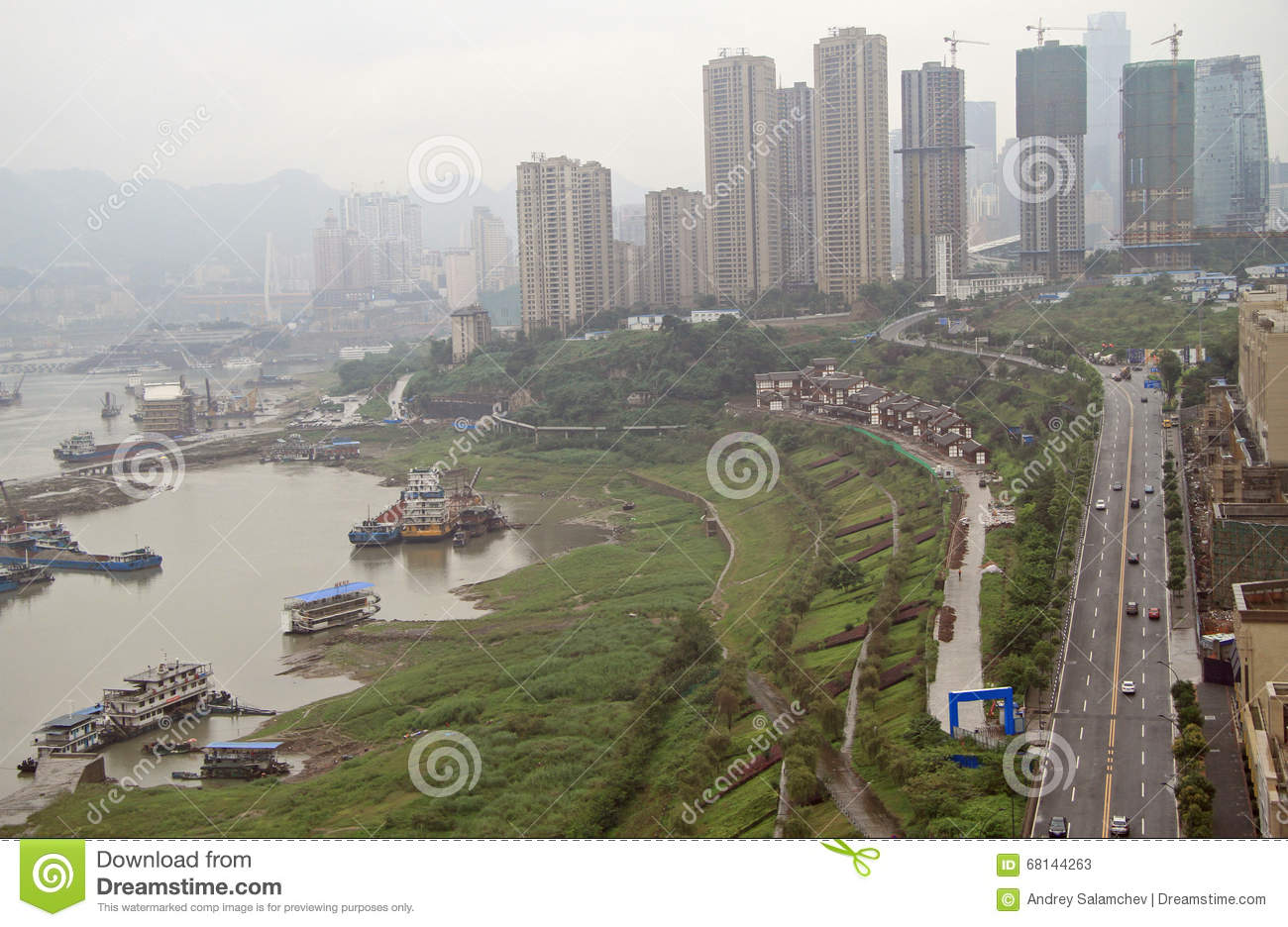 Paysage urbain de ville chongqing chine photo stock for Paysage de ville