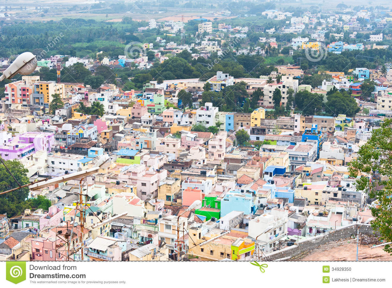Paysage urbain de ville indienne serr e photo stock for Paysage de ville