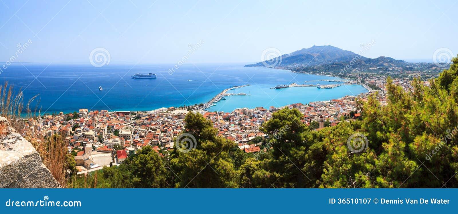 Paysage urbain de Zakynthos