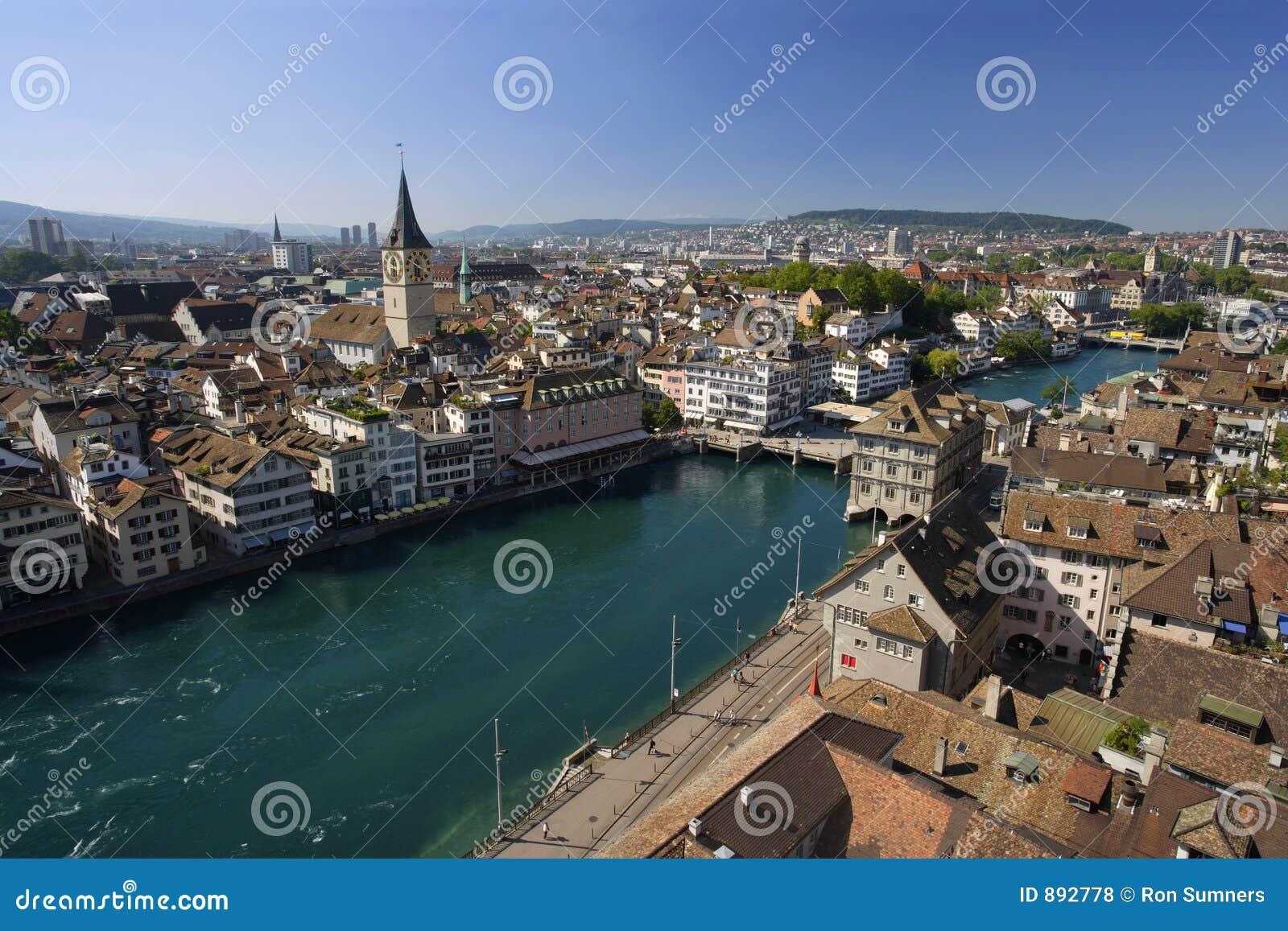 Paysage urbain de Zurich