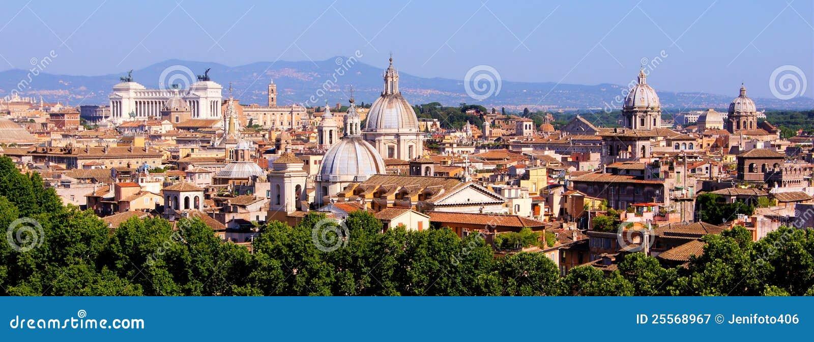 Paysage Urbain Panoramique De Rome Photographie Stock