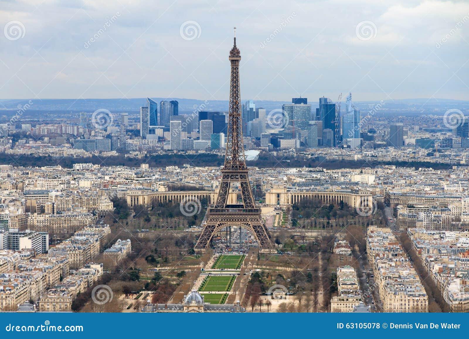 Paysage urbain paris photo stock image du defense ville for Paris paysage