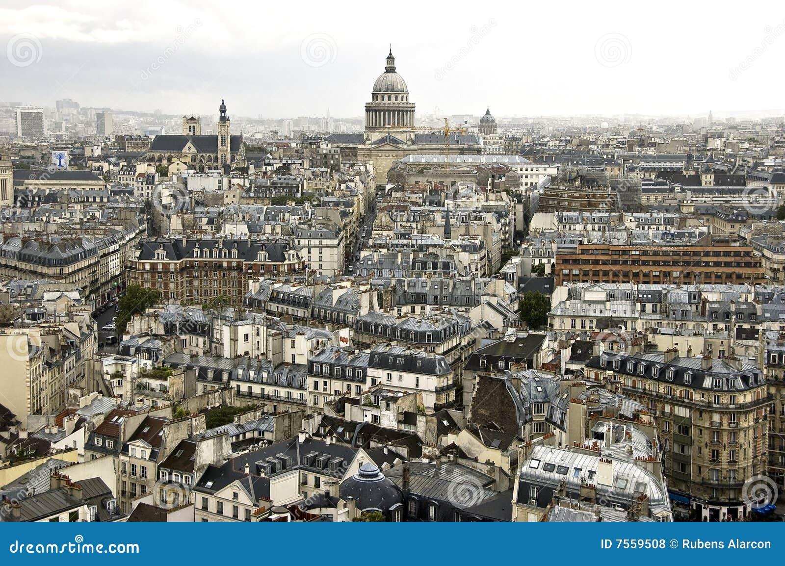 Paysage urbain paris photo stock image du fond france for Paris paysage