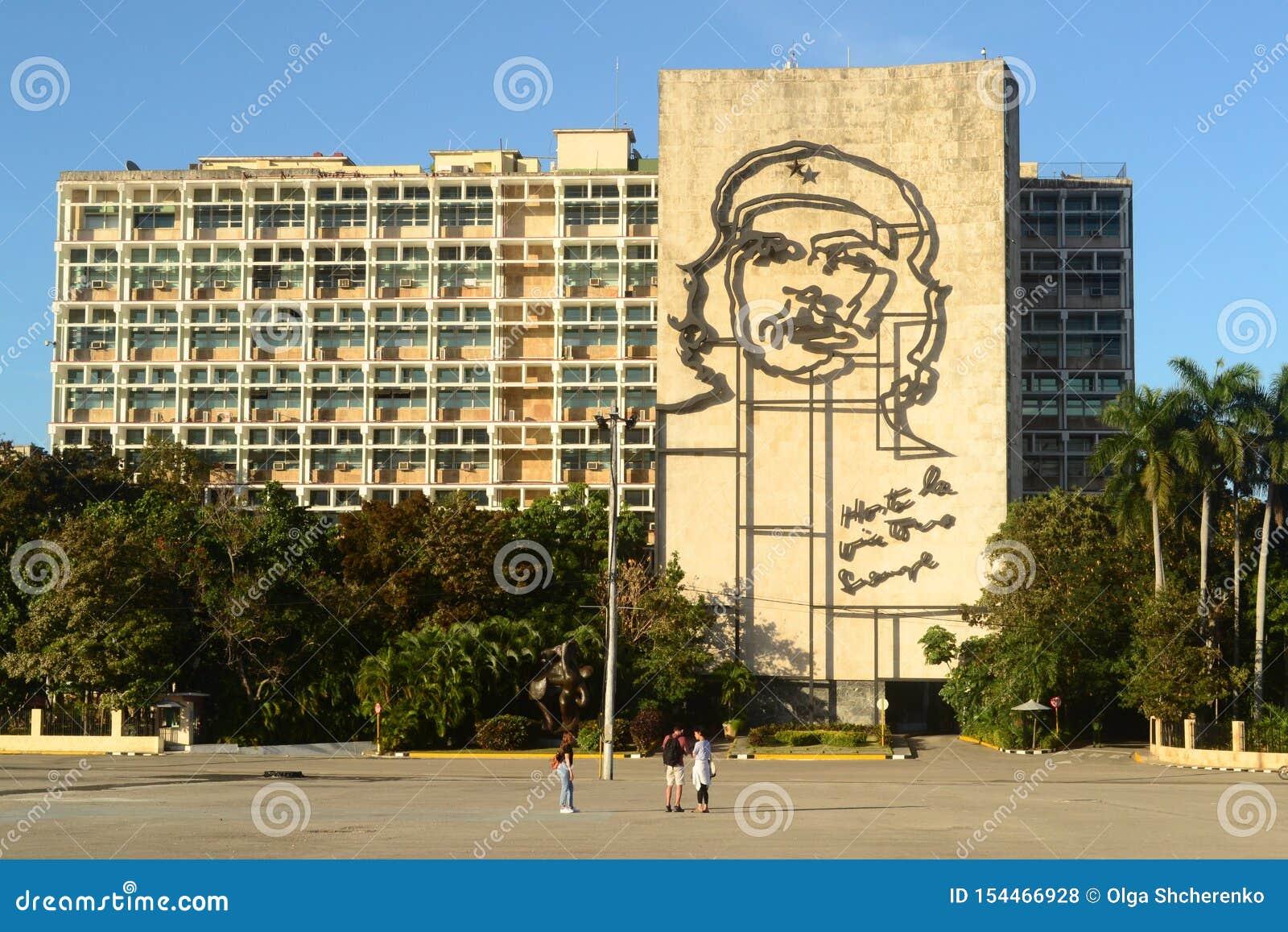 Paysage urbain Place de révolution à La Havane, Cuba