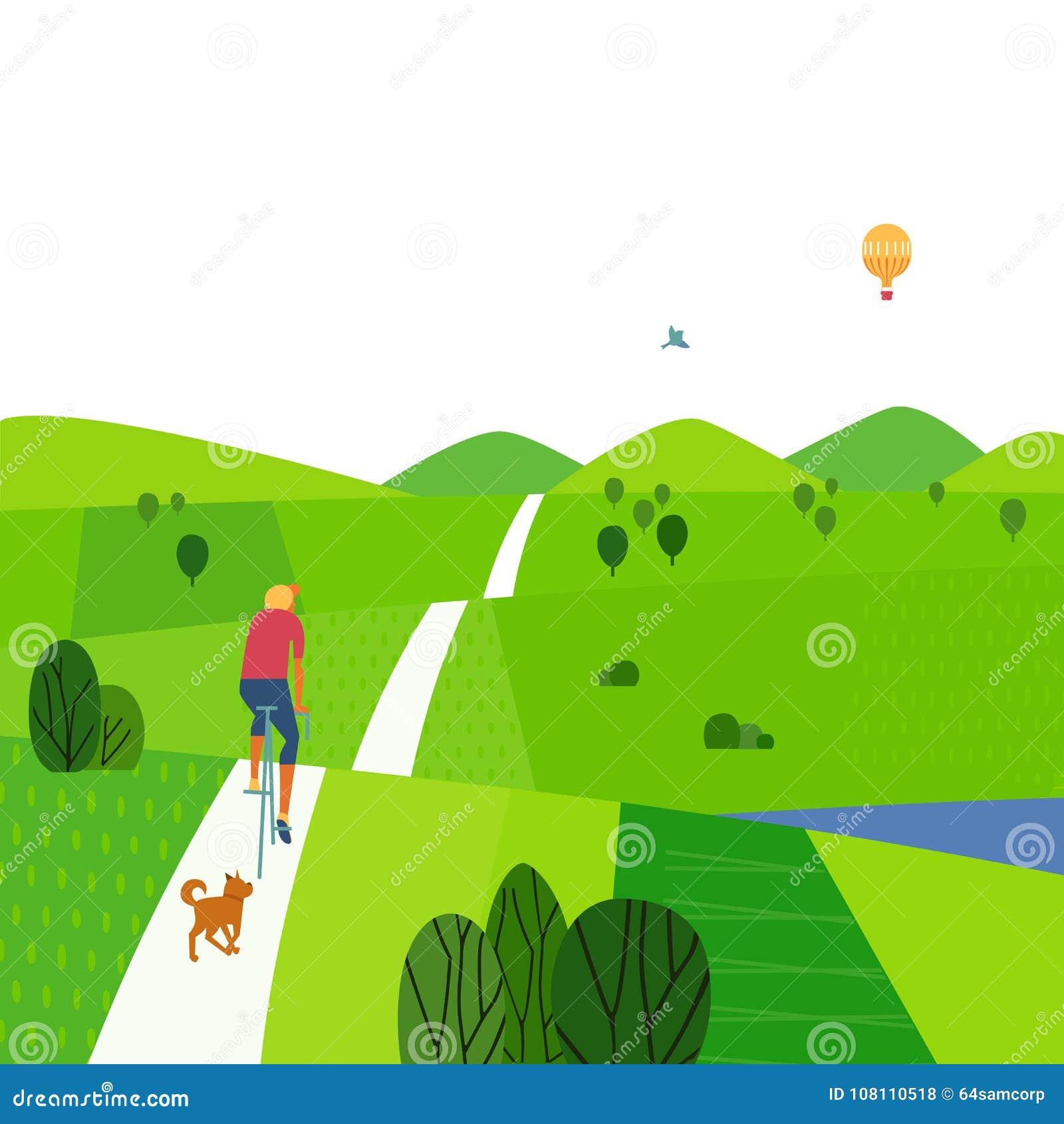 Paysage vert d été