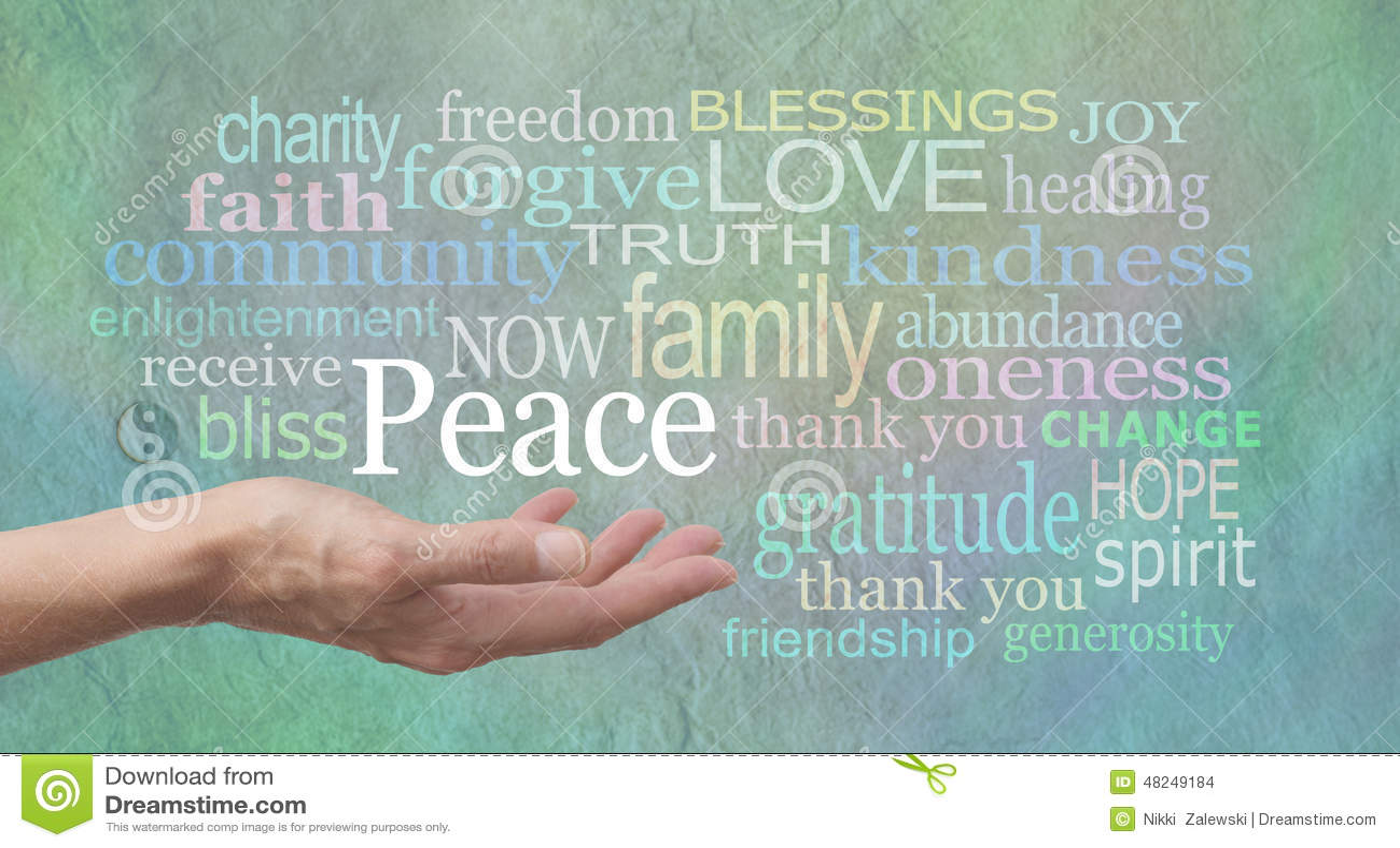 Paz de mundo que busca