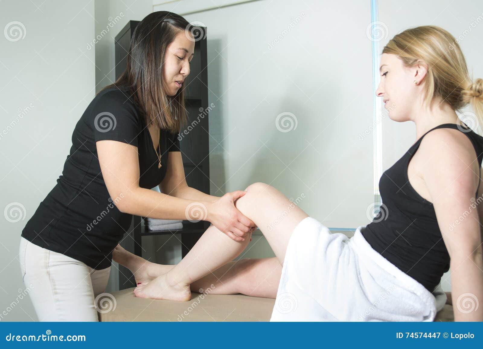 Paziente a fisioterapia