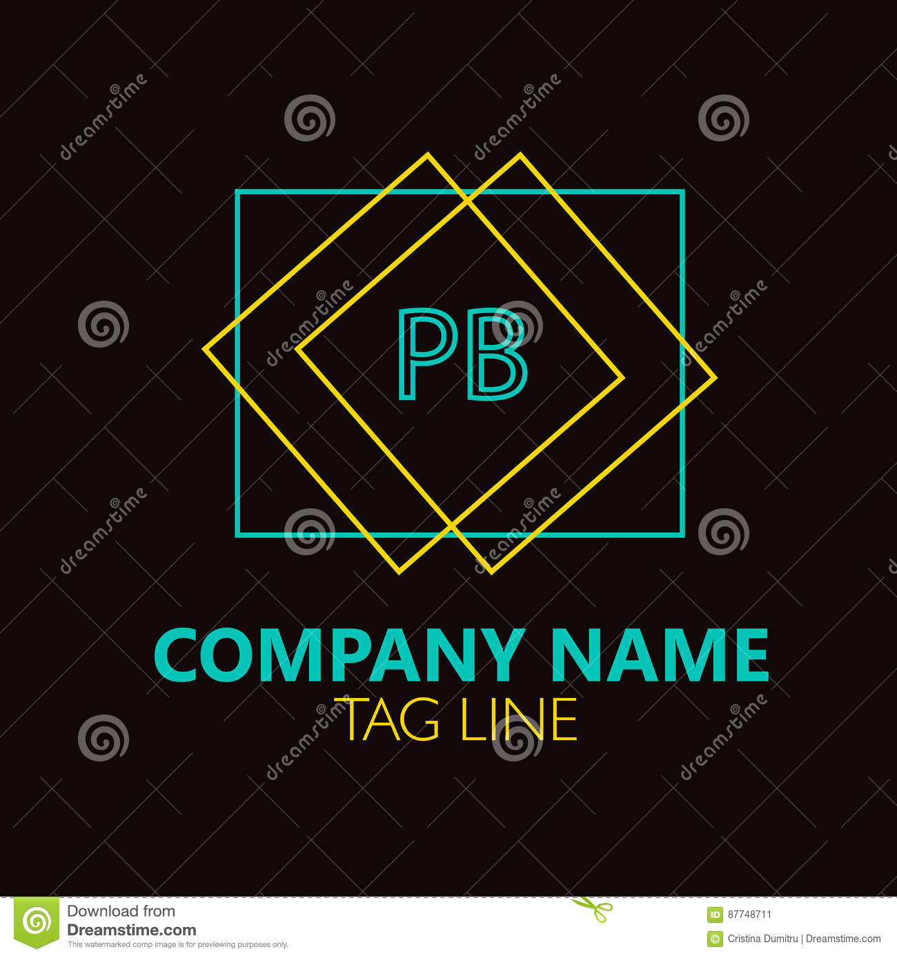 Pb Letter Logo Design Stock Vector Illustration Of Concept 87748711