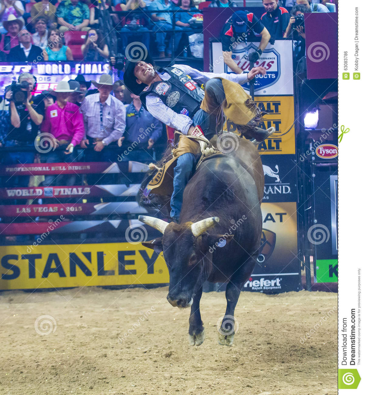 Pbr Bull Riding World Finals Editorial Photo Image Of
