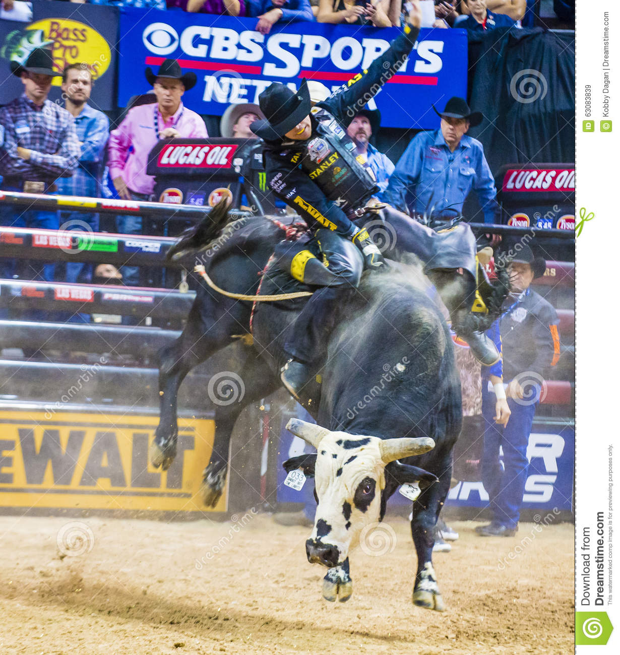 Pbr Bull Riding World Finals Editorial Stock Image Image