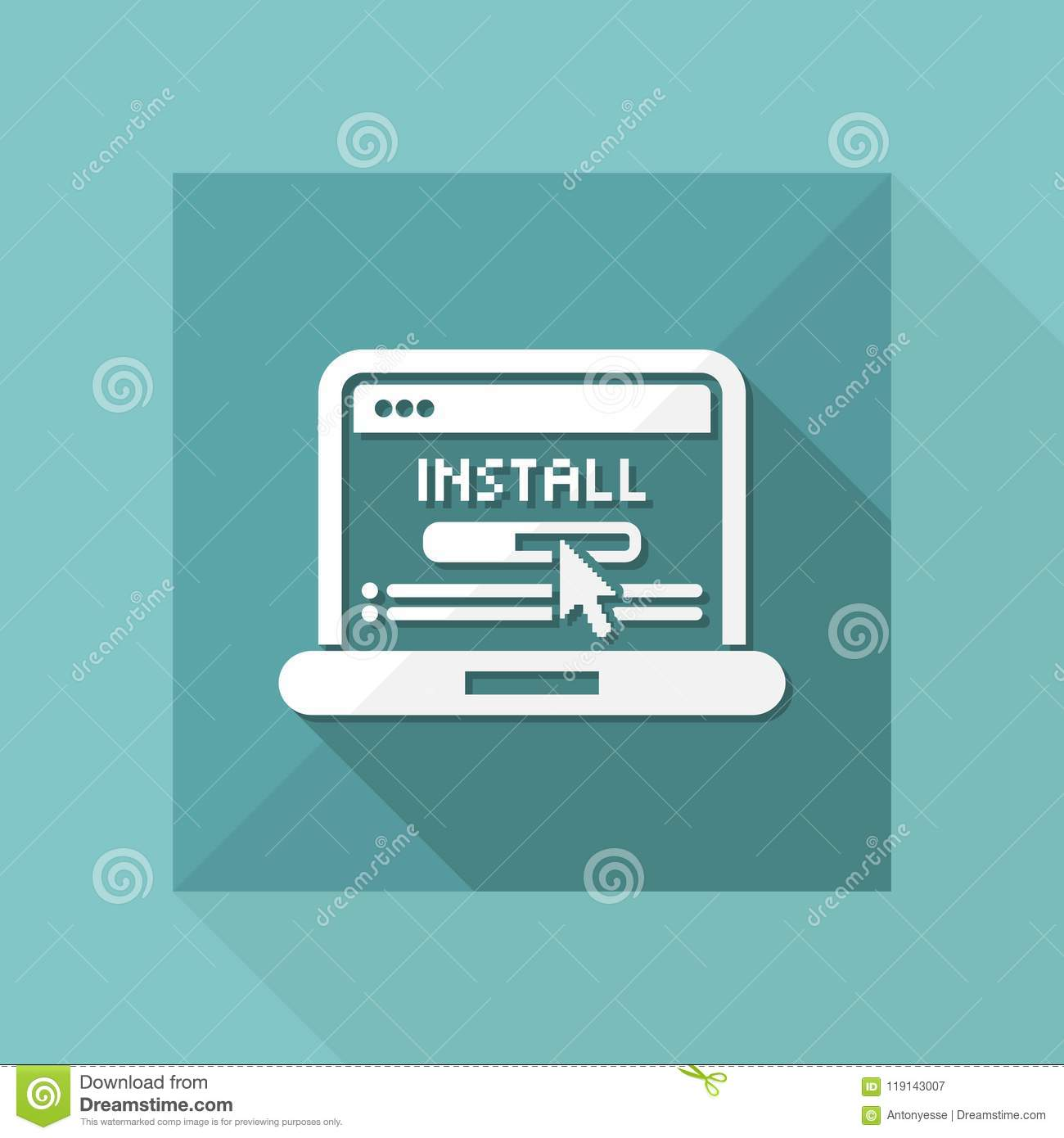 Pc install icon stock vector  Illustration of element