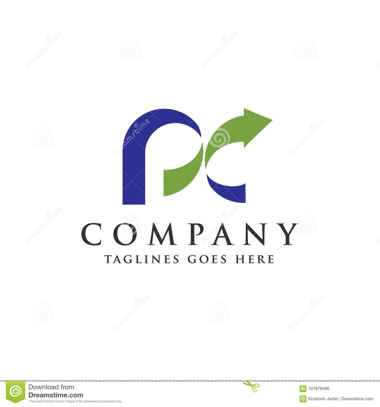 PC letter logo stock vector. Illustration of business - 101678486 for Logo Design Samples Free Download  181obs