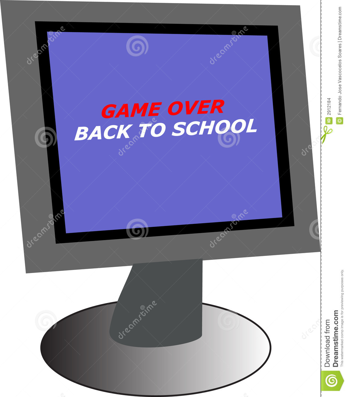 Back To Back Monitor : Pc monitor with back to school stock images image