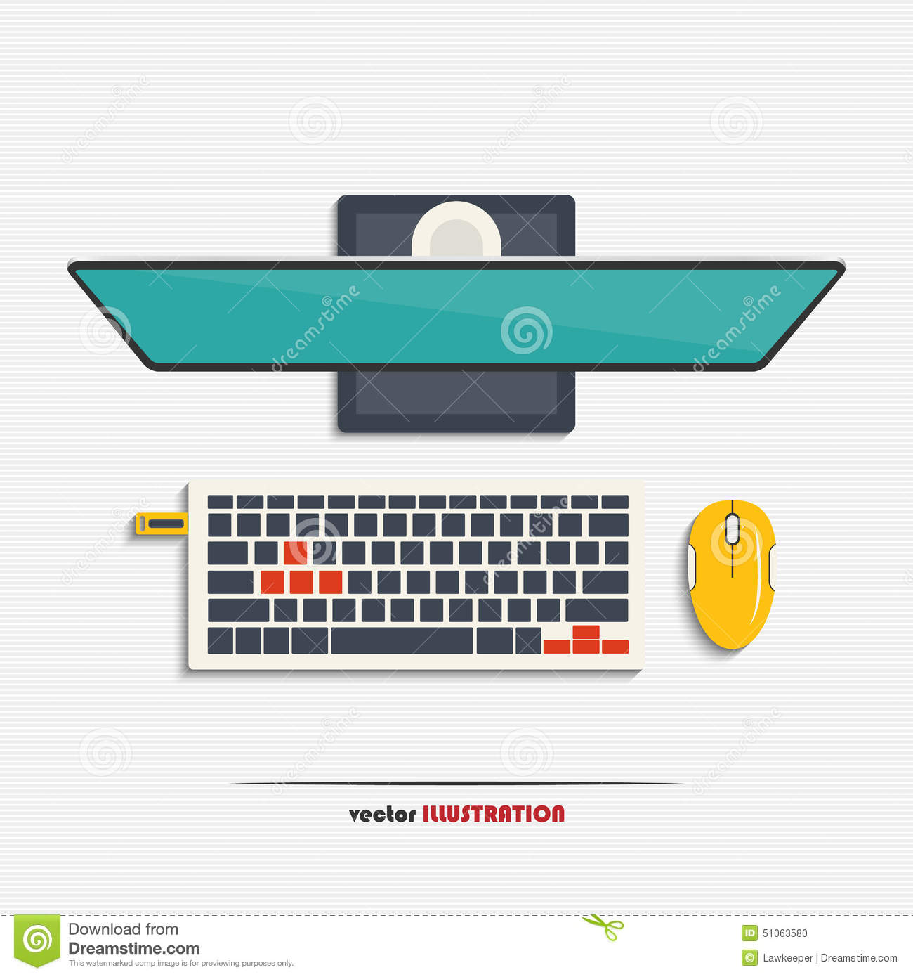 Pc monitor keyboard mouse and usb flash drive stock vector pc monitor keyboard mouse and usb flash drive biocorpaavc Images