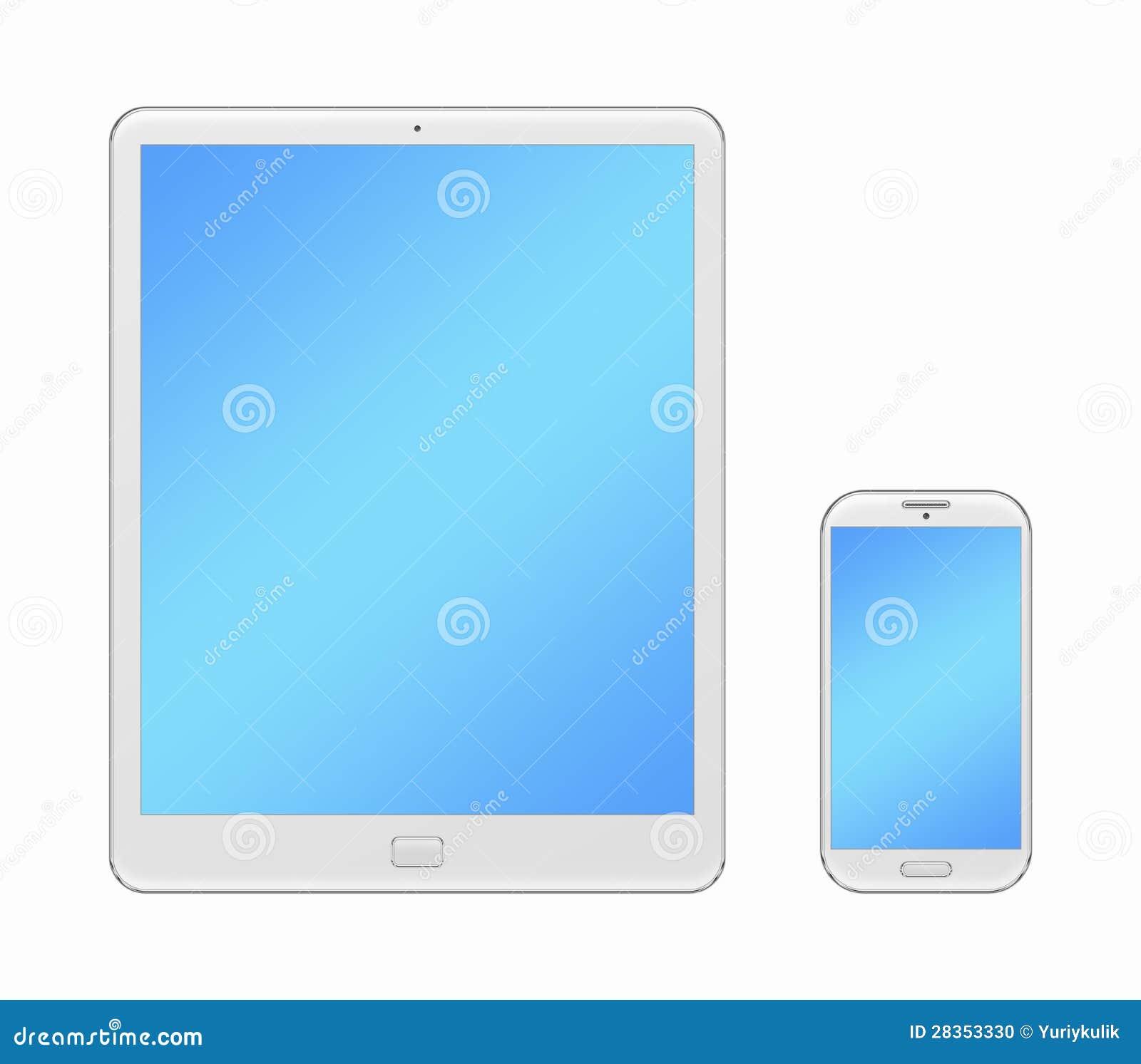 Pc stilizzato della compressa e del telefono cellulare for Calcolatore del prezzo della costruzione domestica