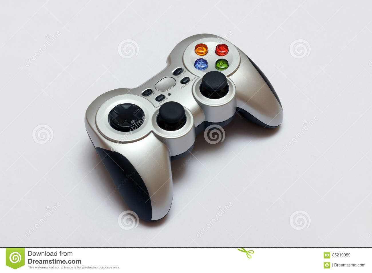 PC Wireless Game Controller Gamepad Stock Image - Image of editorial
