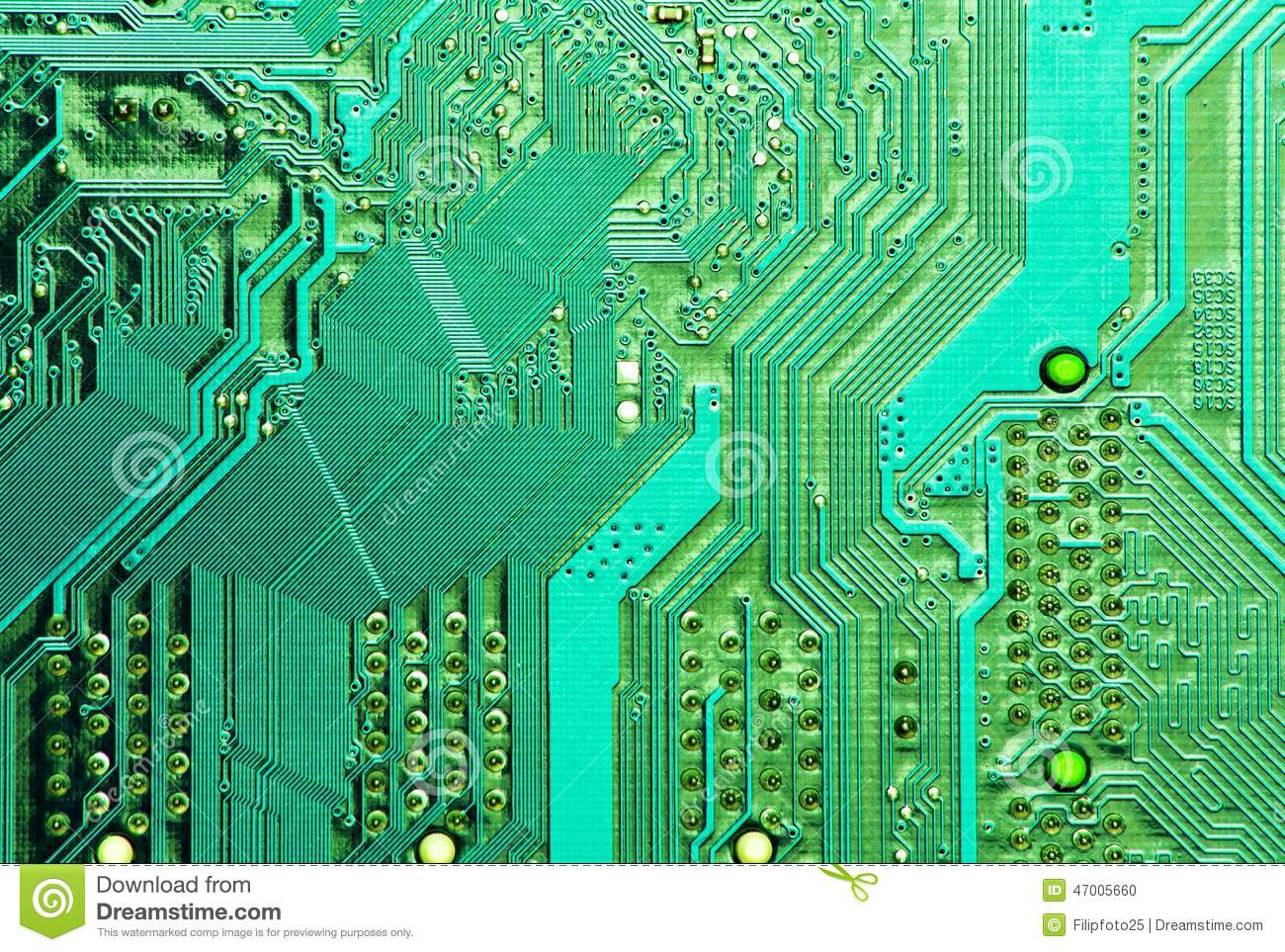 Pcb Board Stock Photo Image Of Assembly Current Electric 47005660 Detail A Printed Circuit Royalty Free