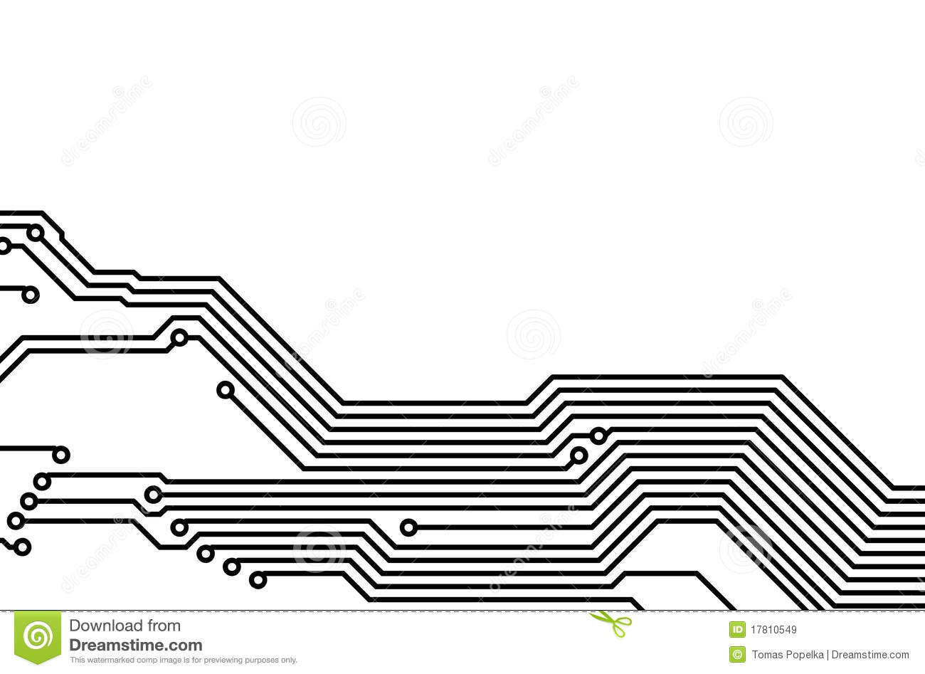 PCB (printed Circuit Board) 6 Stock Illustration - Illustration of ...