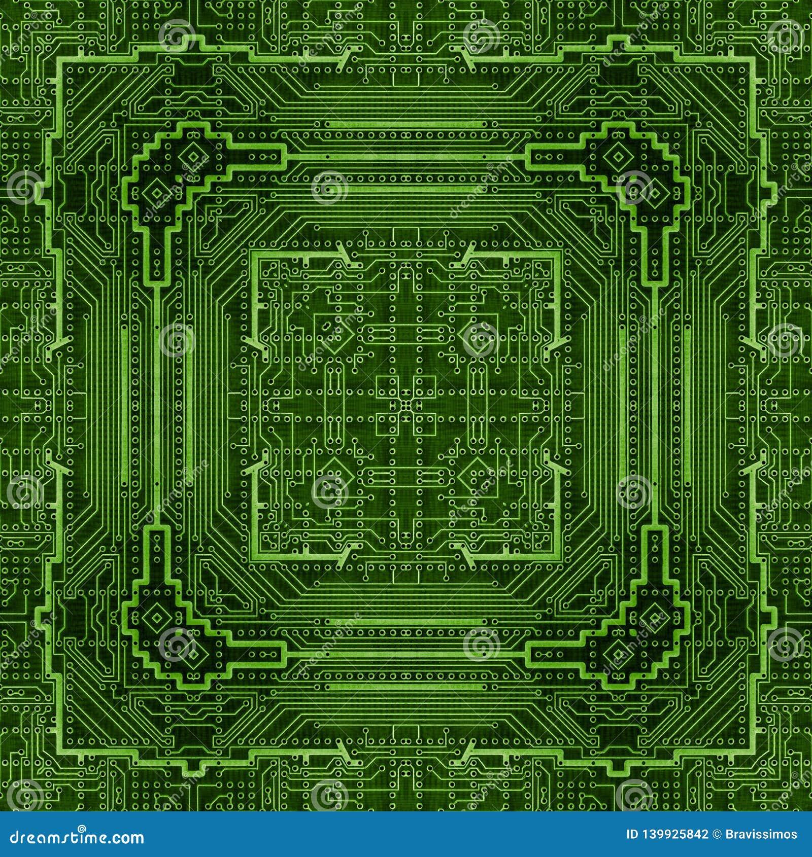 Pcb Printed Circuit Board Pattern  Motherboard Hardware