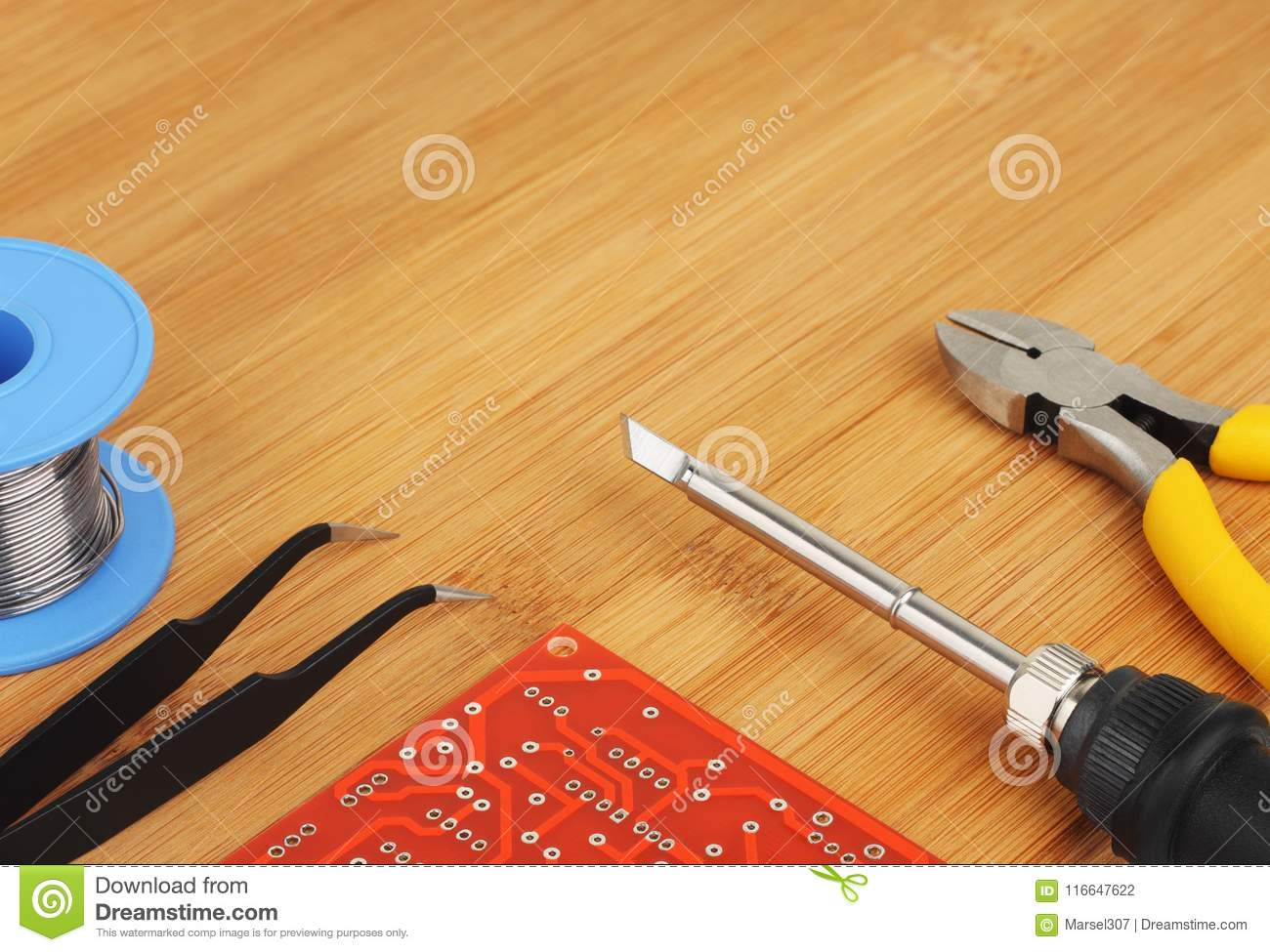 Pcb And Tools Stock Photo Image Of Part Cutting Black 116647622 Circuit Board Cutter Images