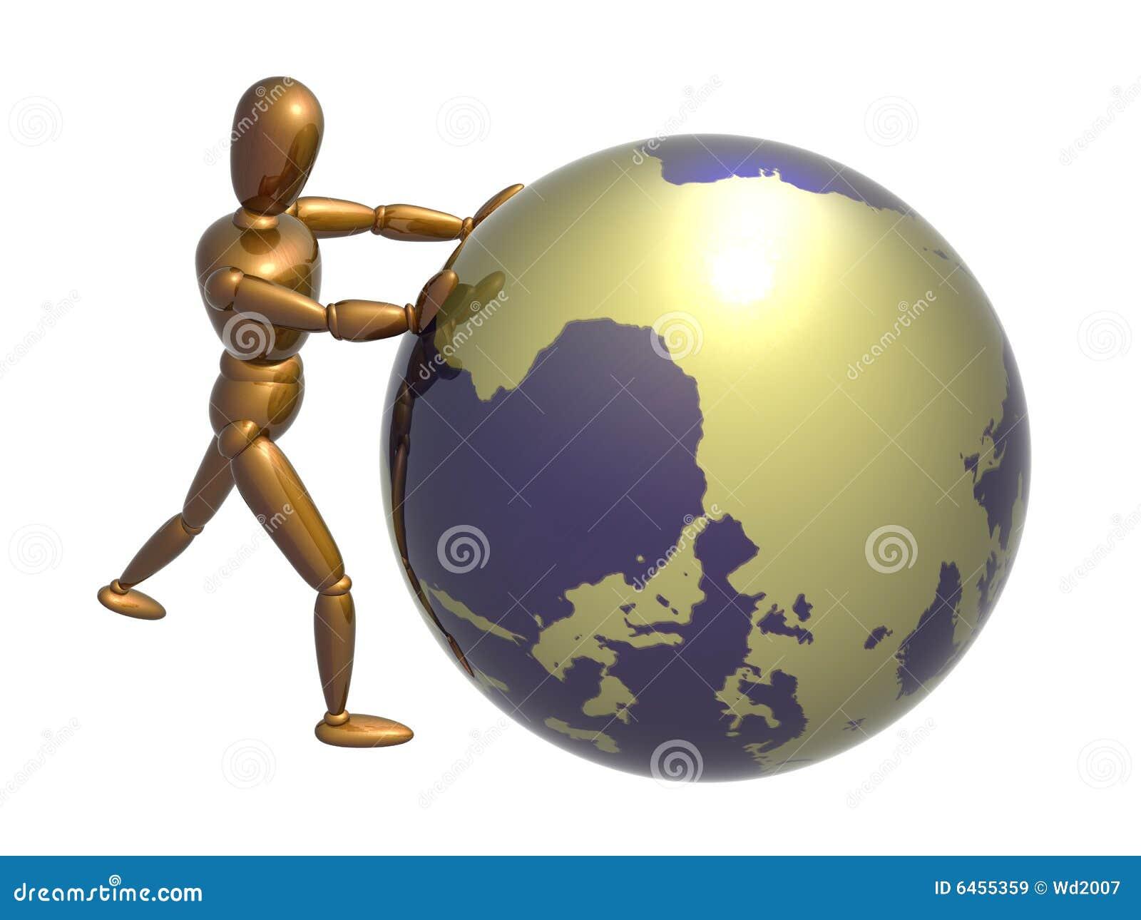 Pchaj globe pozycji