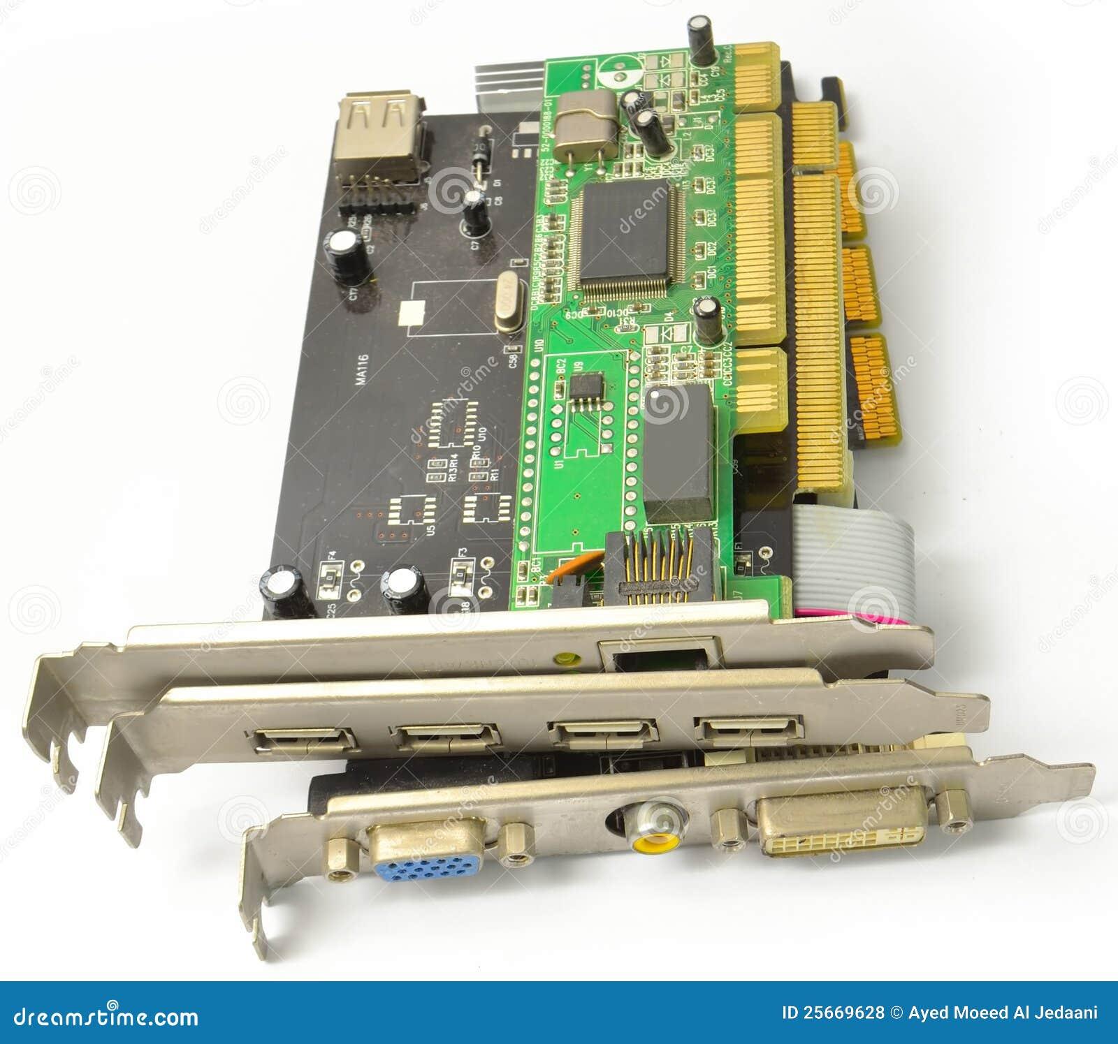 PCI i AGP karty dla PECETA od przodu