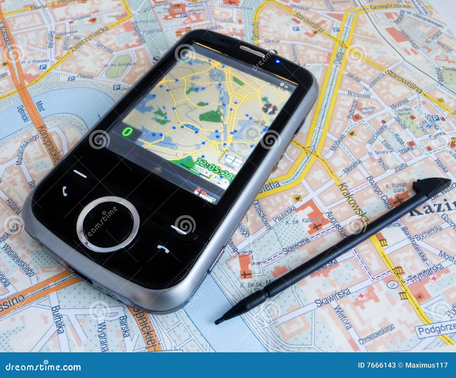 PDA avec le GPS