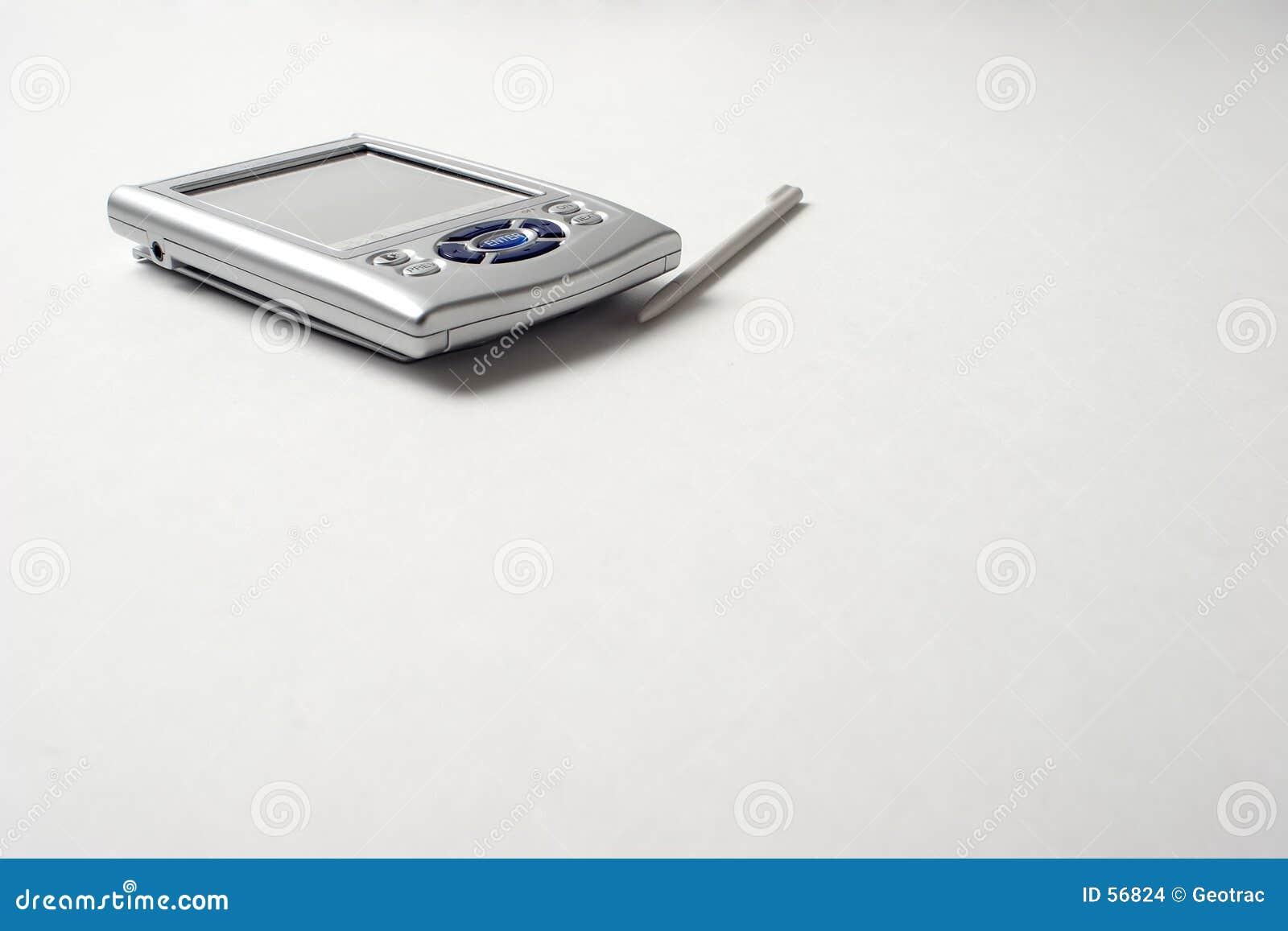 PDA con el espacio para la copia