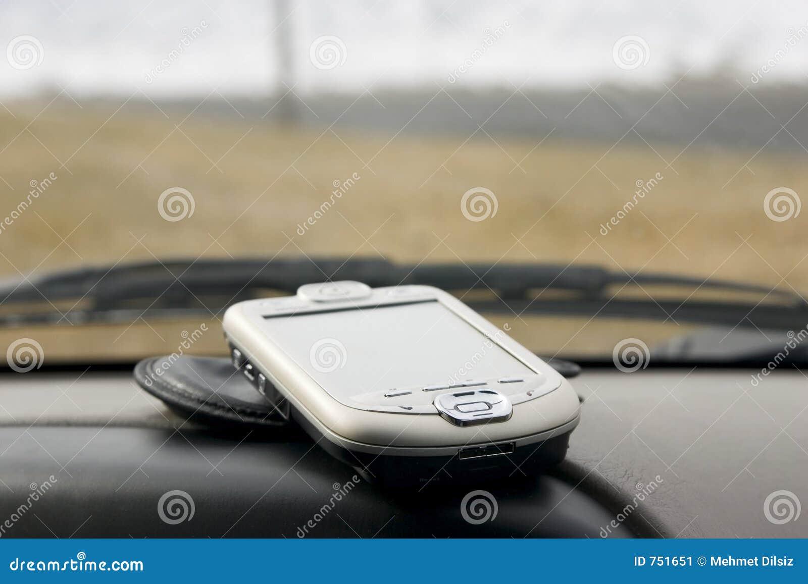PDA op het Dek van een Auto
