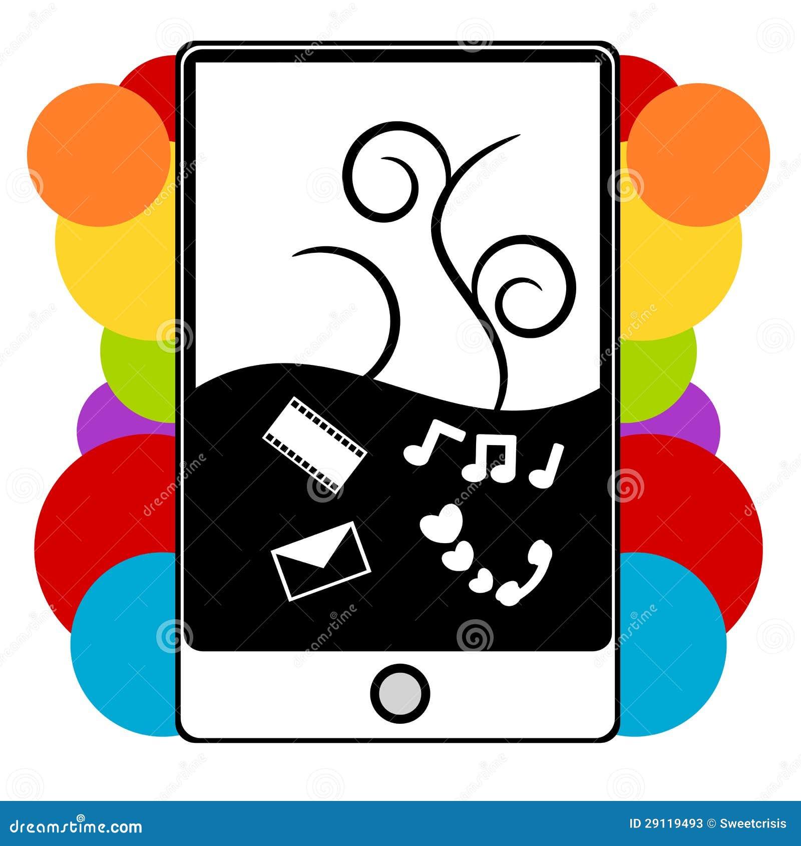 PDA Phone Illustration Stock Photos - Image: 29119493