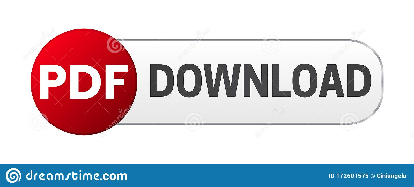 PDF Download Button stock vector Illustration of download