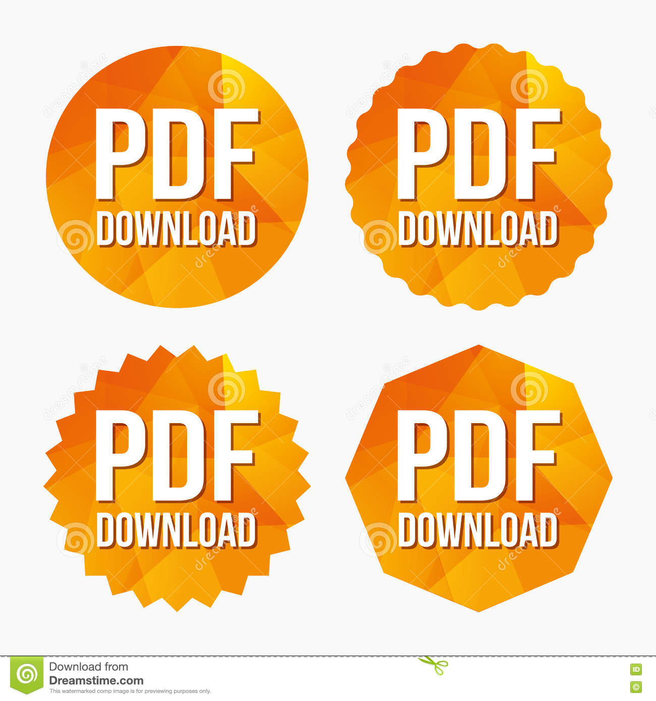 Pdf Download Icon Upload File Button Stock Vector Illustration