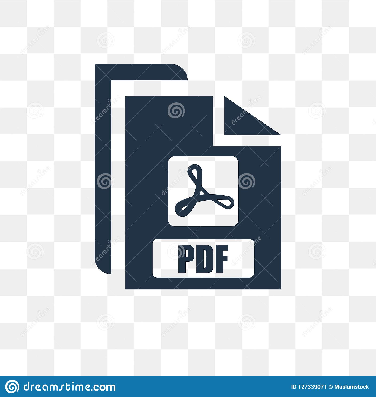 Pdf Vector Icon Isolated On Transparent Background Pdf Transpa