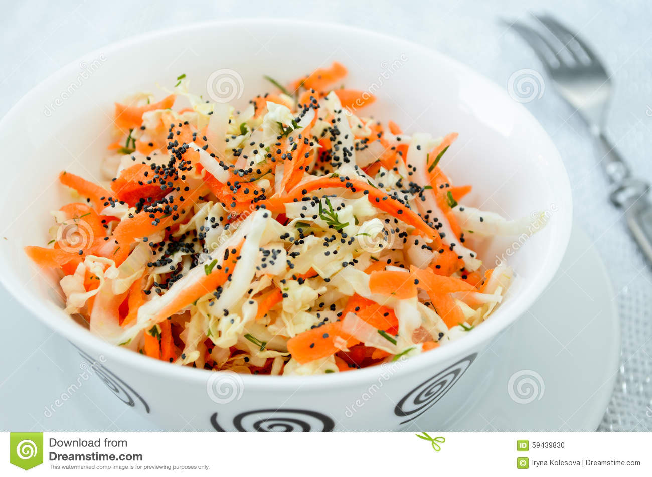 Pe-tsai Cabbage Salad With Carrot, Dill And Poppy Seed ...