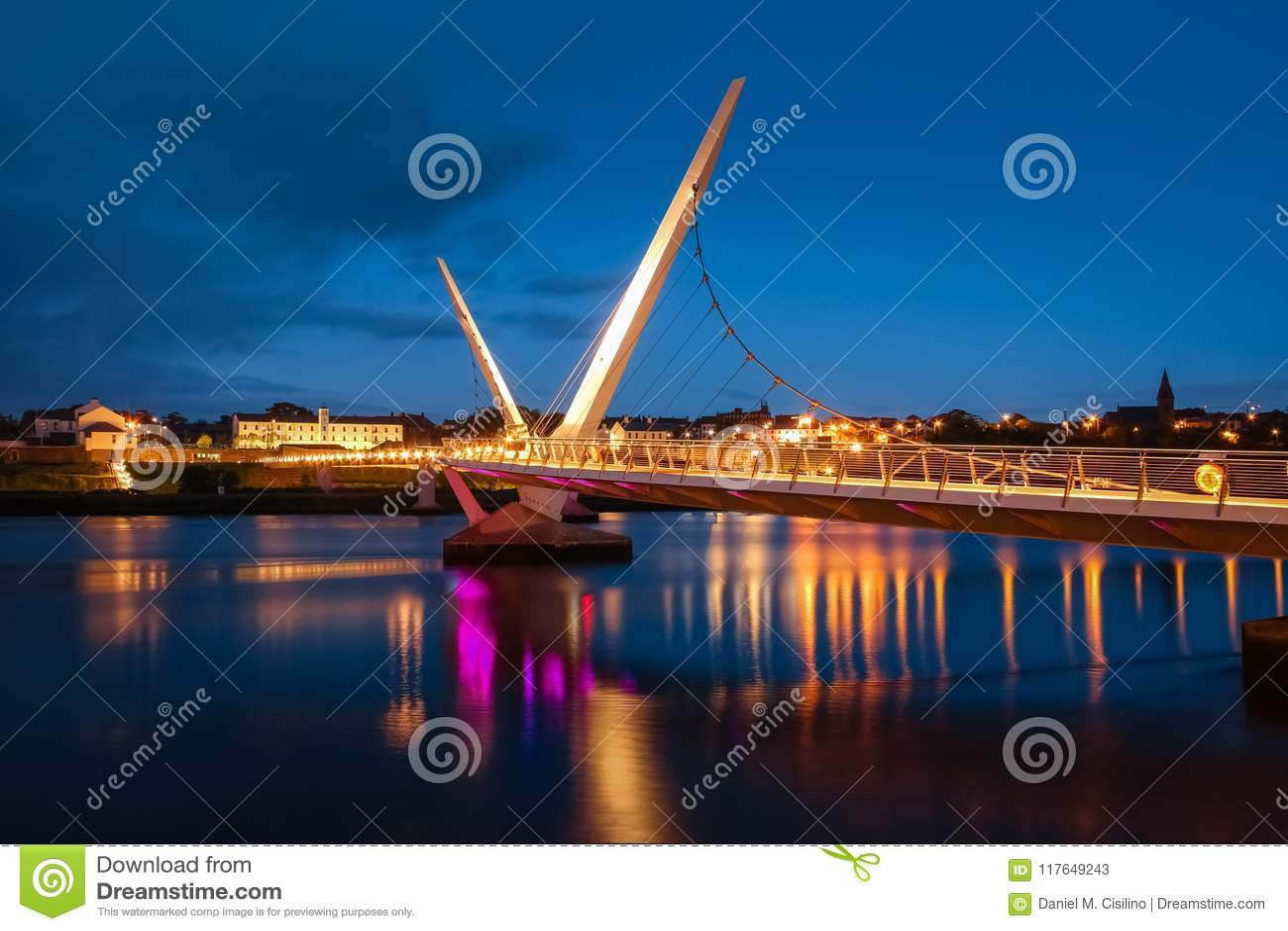 The Peace Bridge. Derry Londonderry. Northern Ireland. United Kingdom