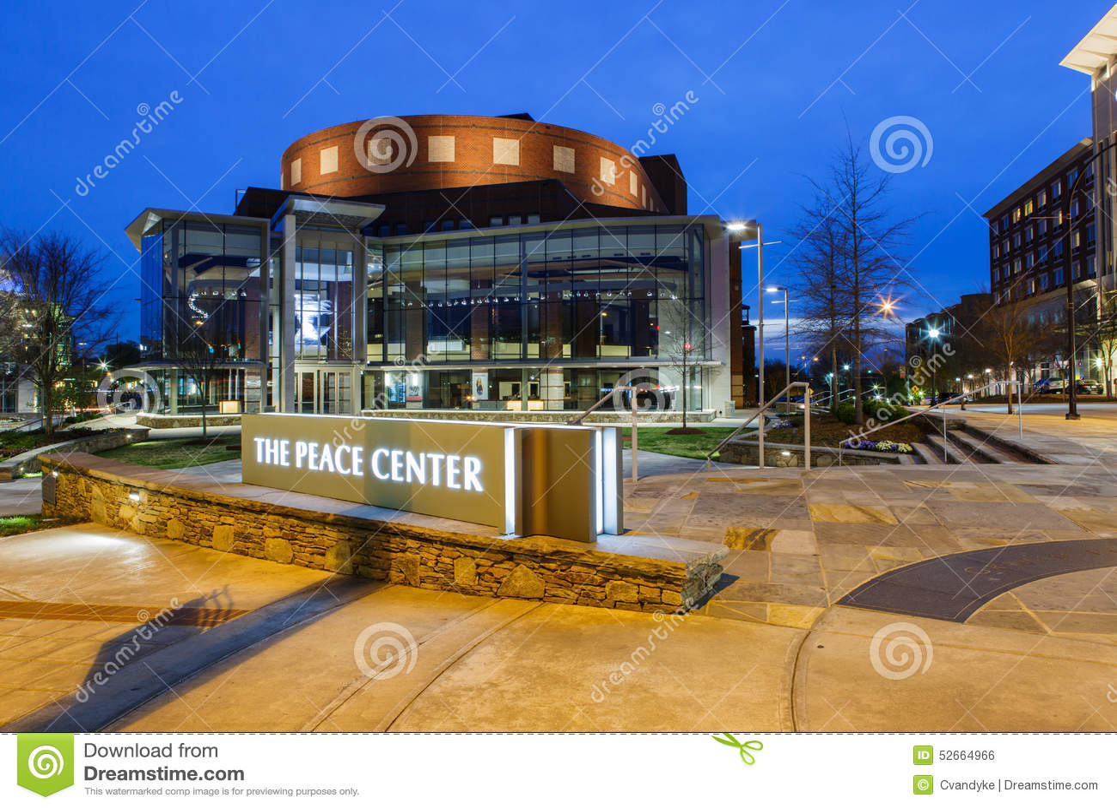 The Peace Center Greenville South Carolina Editorial Photo Image