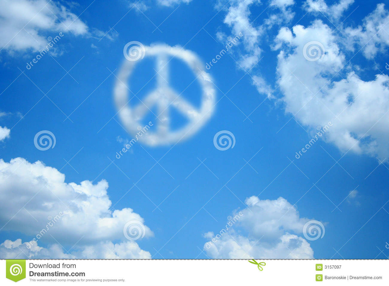 peace cloud stock image image of sign cloud anarchy 3157097