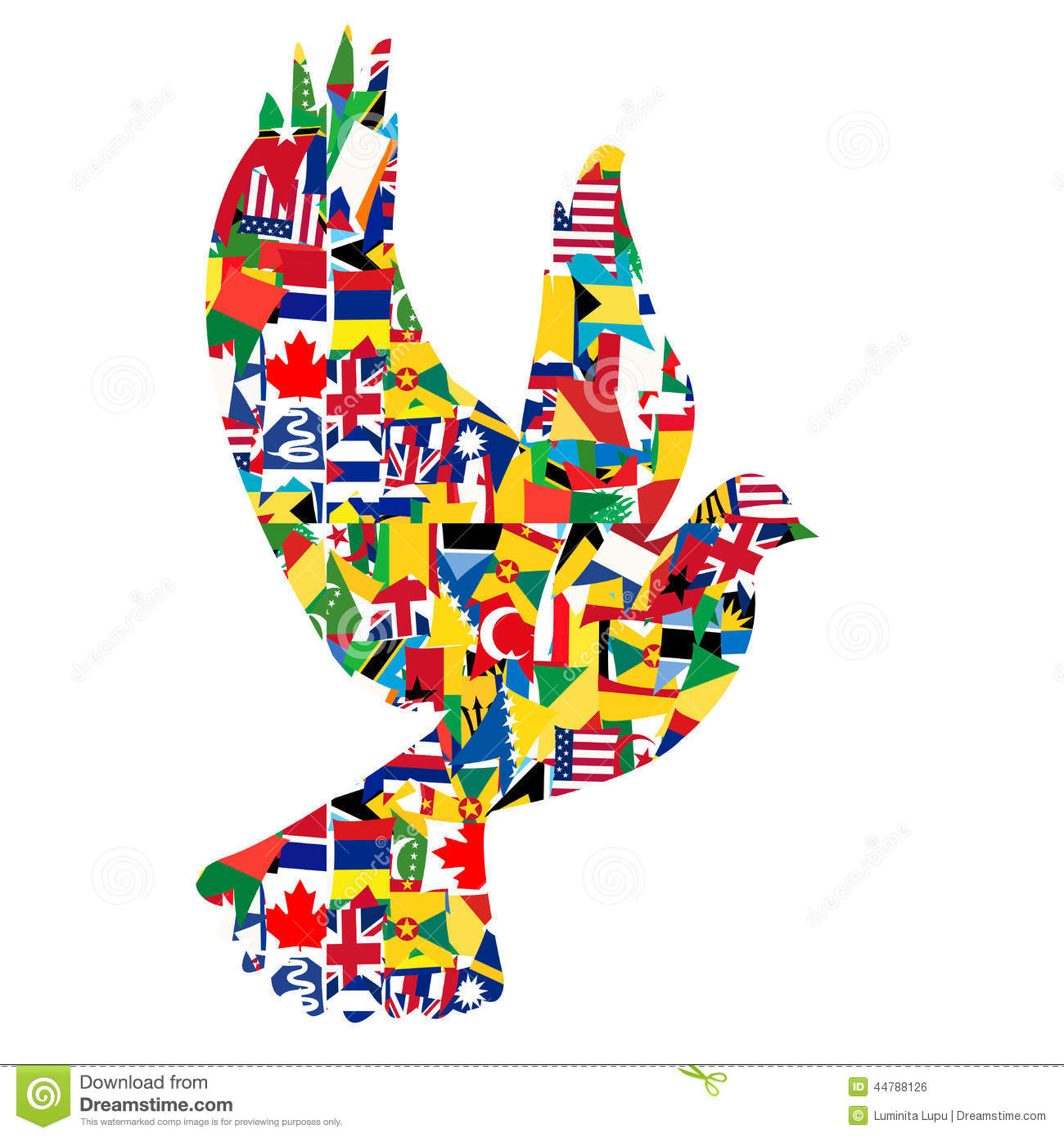 Peace concept with dove made of world flags stock illustration peace concept with dove made of world flags gumiabroncs Gallery