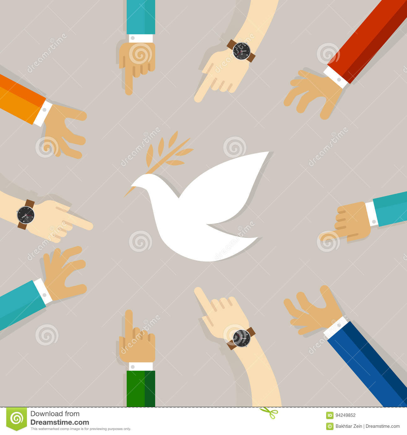 Peace conflict resolution symbol of international effort together peace conflict resolution symbol of international effort together to fly white pigeon stock photography biocorpaavc Image collections