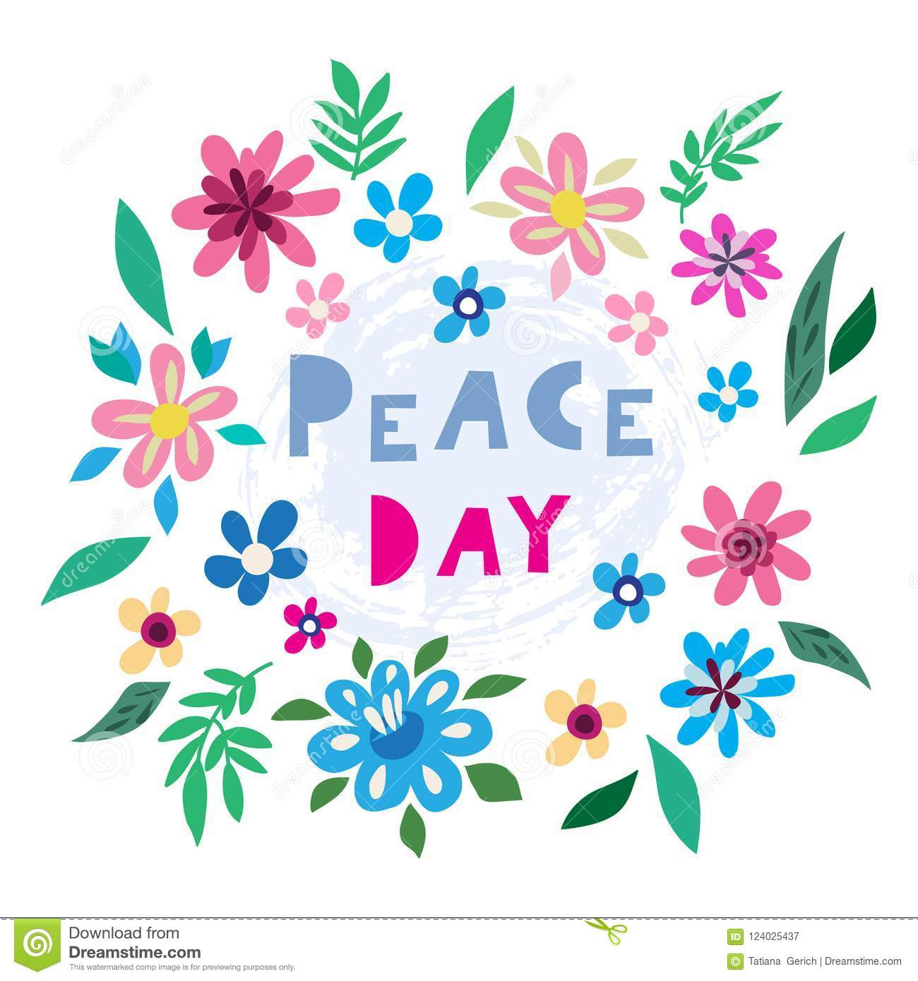 Peace day template poster stock vector. Illustration of drawing ...