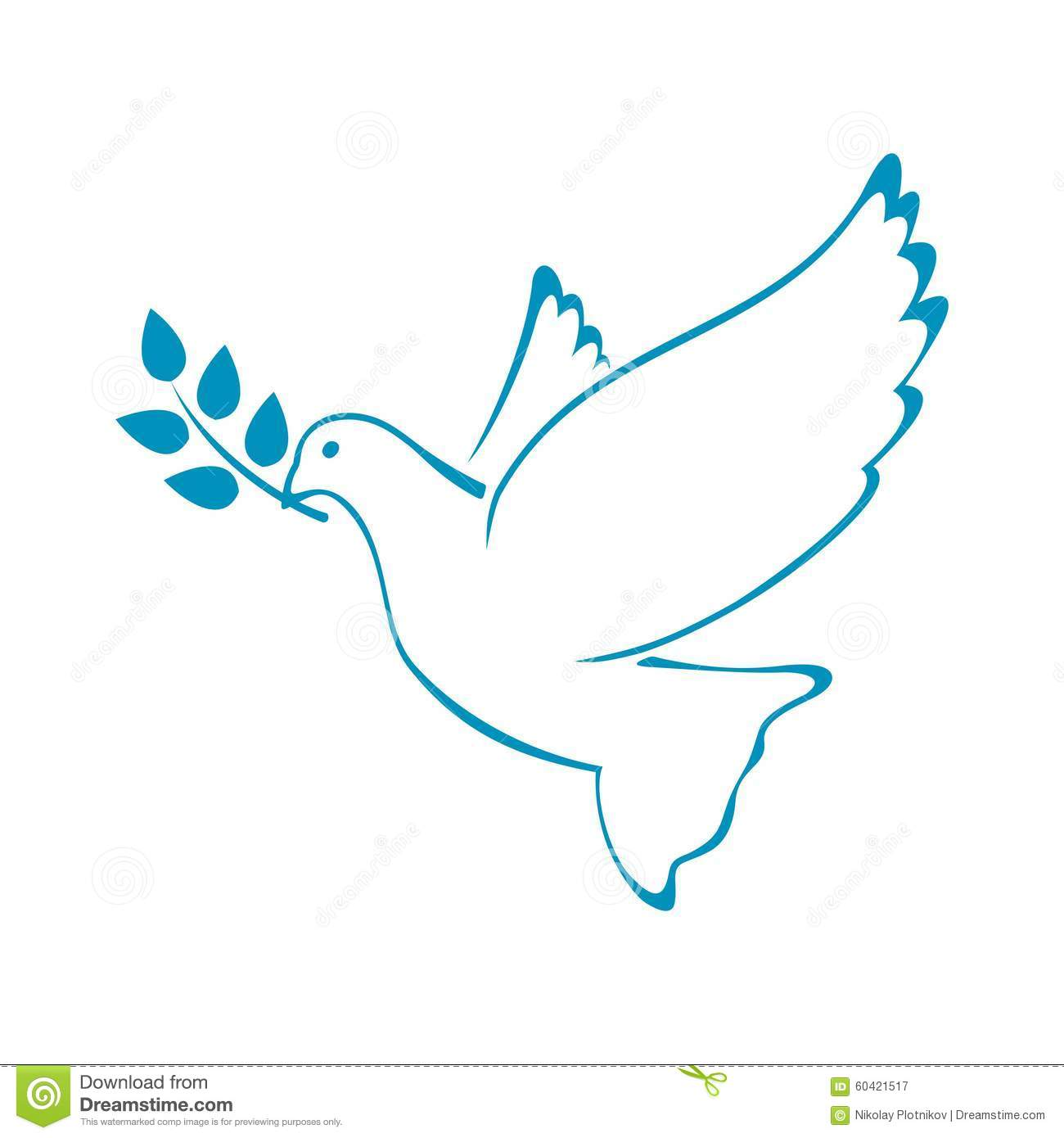 Peace Dove With Olive Branch Vector Illustration Stock Vector Illustration Of Beauty Leaf 60421517