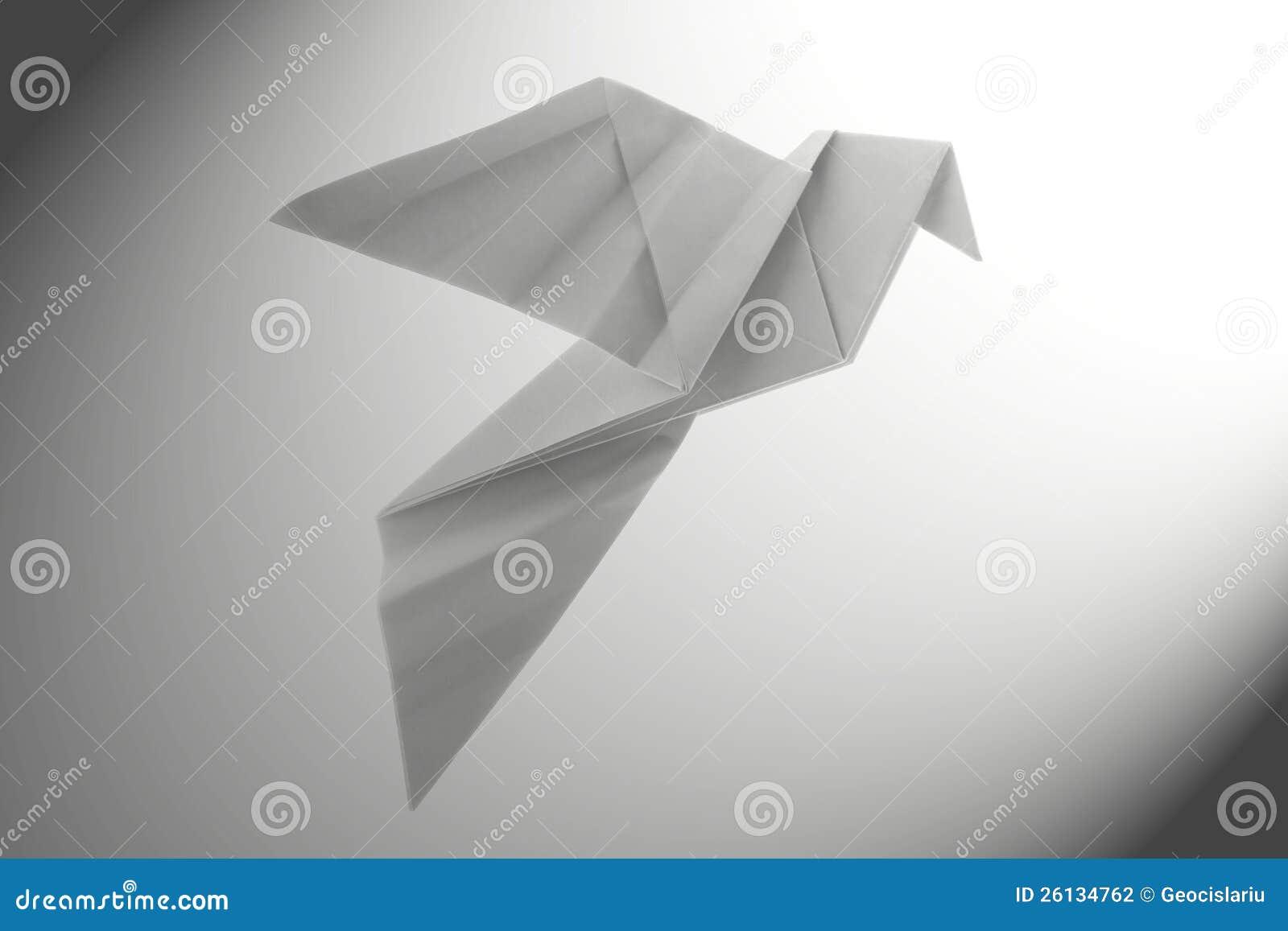 Peace Dove Origami Stock Photography - Image: 26134762 - photo#26