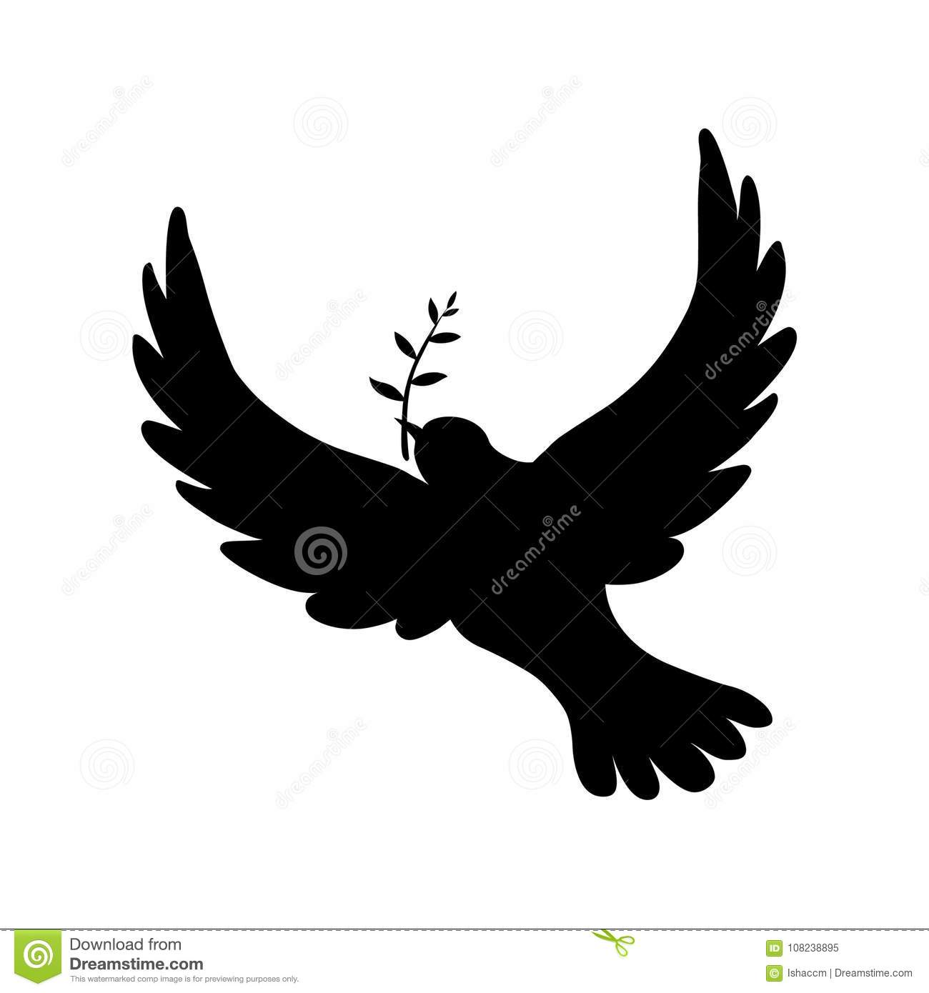 Peace Dove Silhouette Vector Illustration Of Peace Dove With