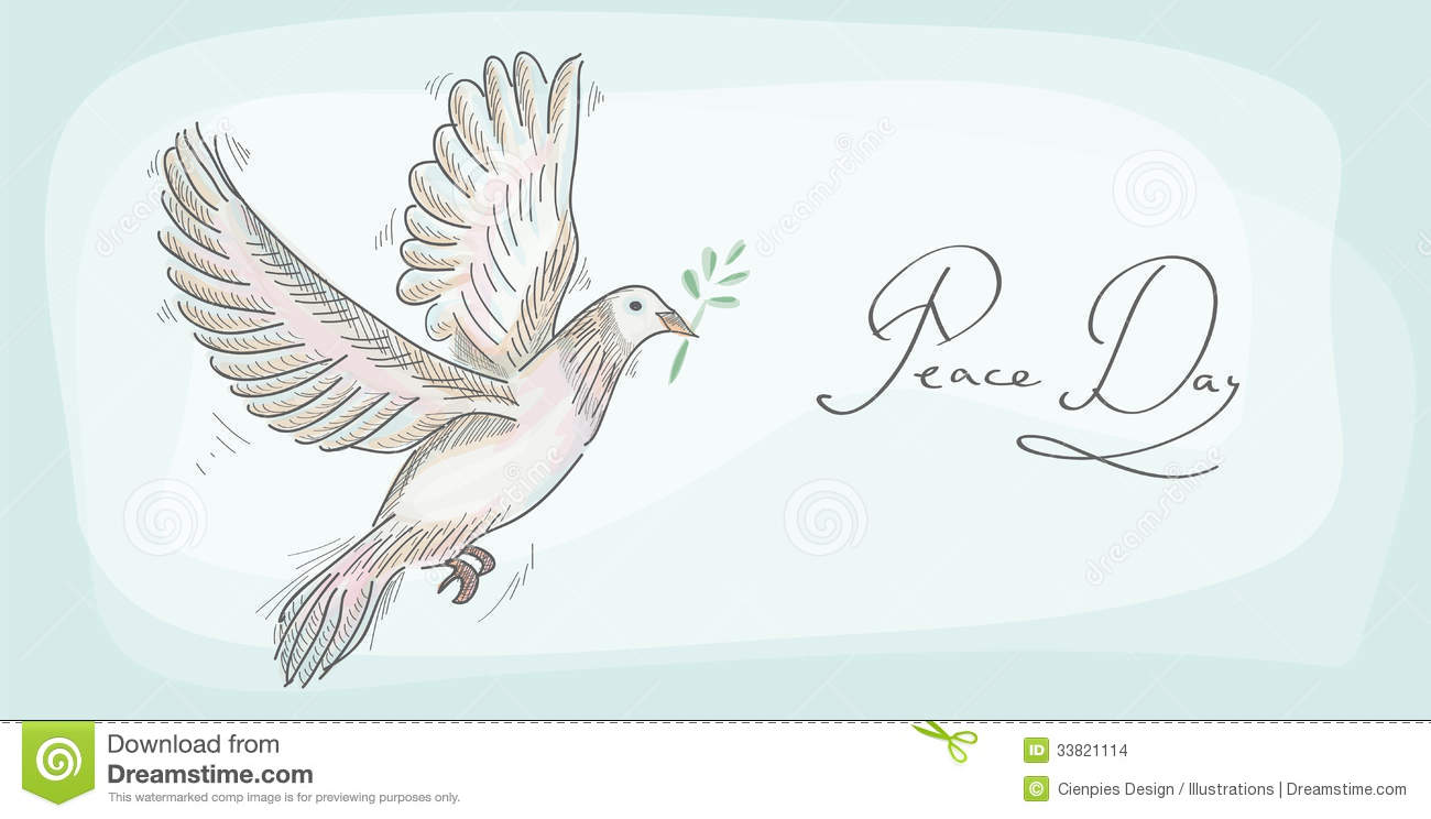 Peace Dove Symbol Texture Background Eps10 File Stock Vector